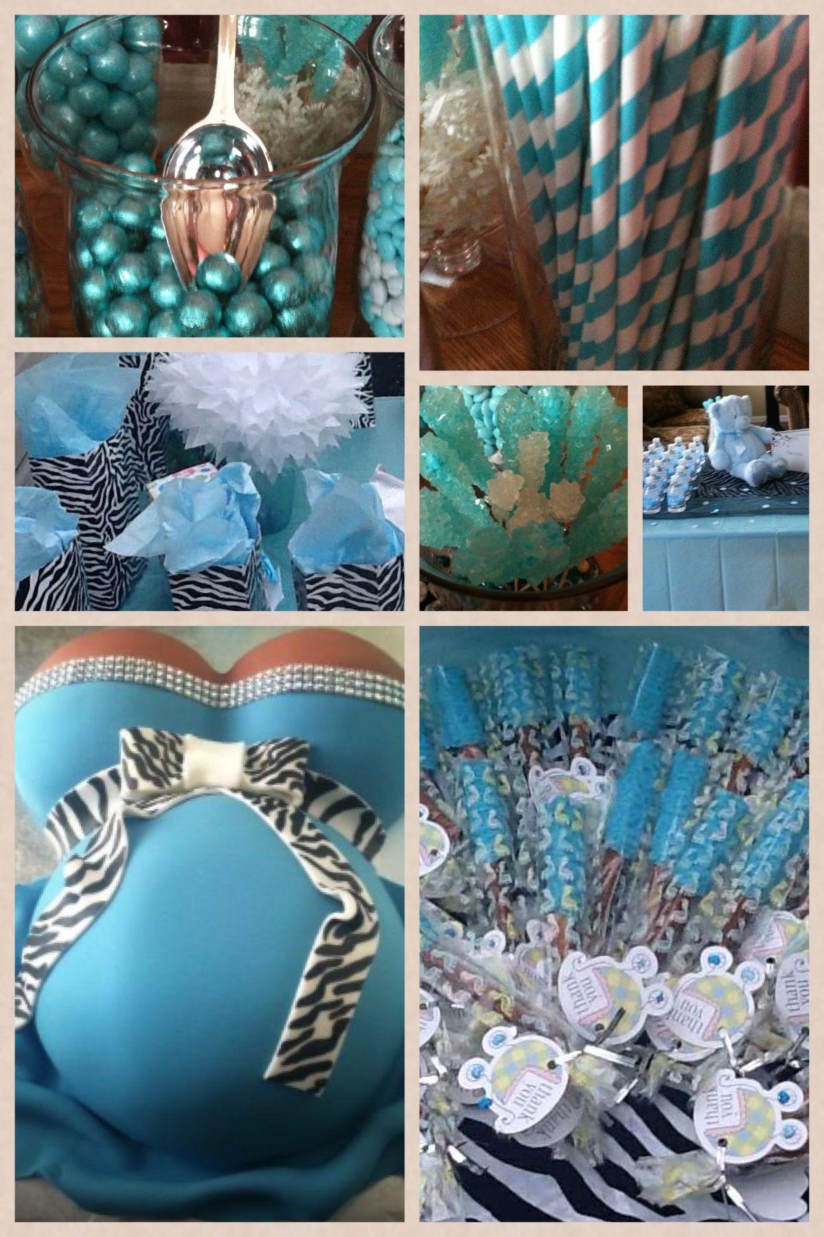 tiffany blue zebra print baby shower baby shower ideas pinterest