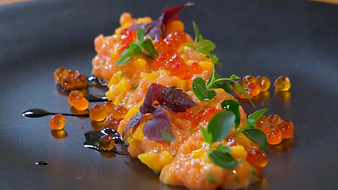 Tartar De Salmon Y Mango Hermanos Torres En 2019