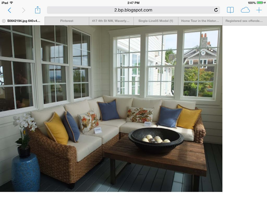 Enclosed front porch ideas house and home pinterest for Enclosed front porch design