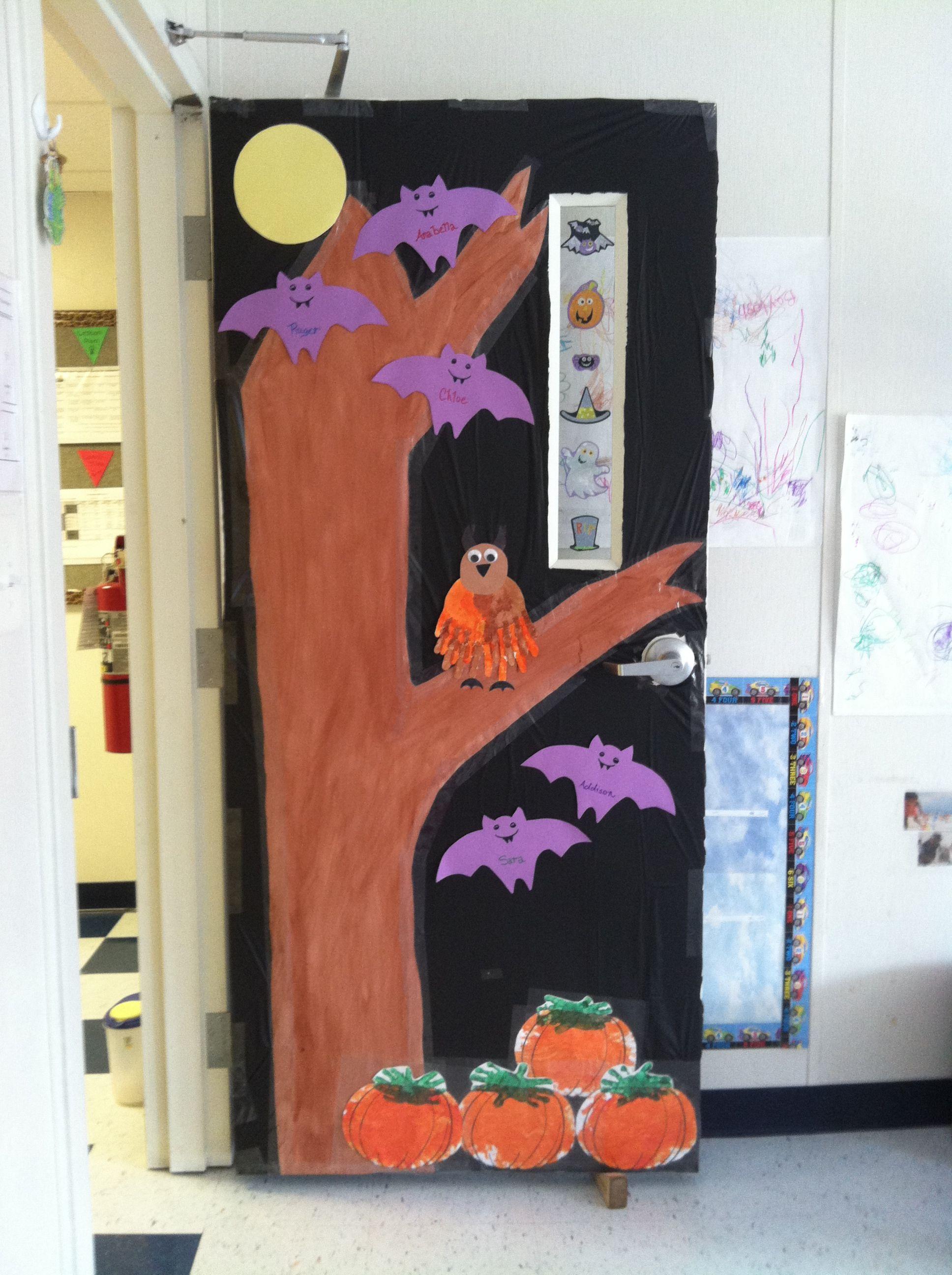 Halloween  Preschool door decorating ideas  Pinterest