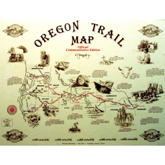 This is an image of Fan Oregon Trail Map Printable