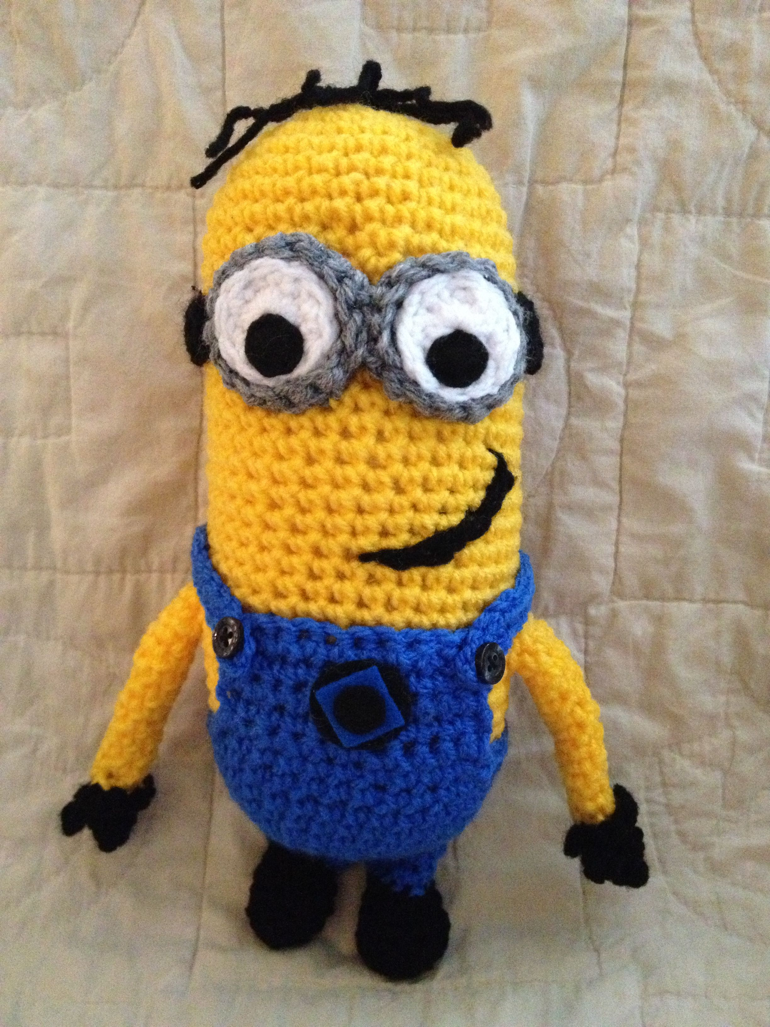 Crochet Minion from Despicable Me. Pattern from collect3d.com. Crochet ~ Kn...