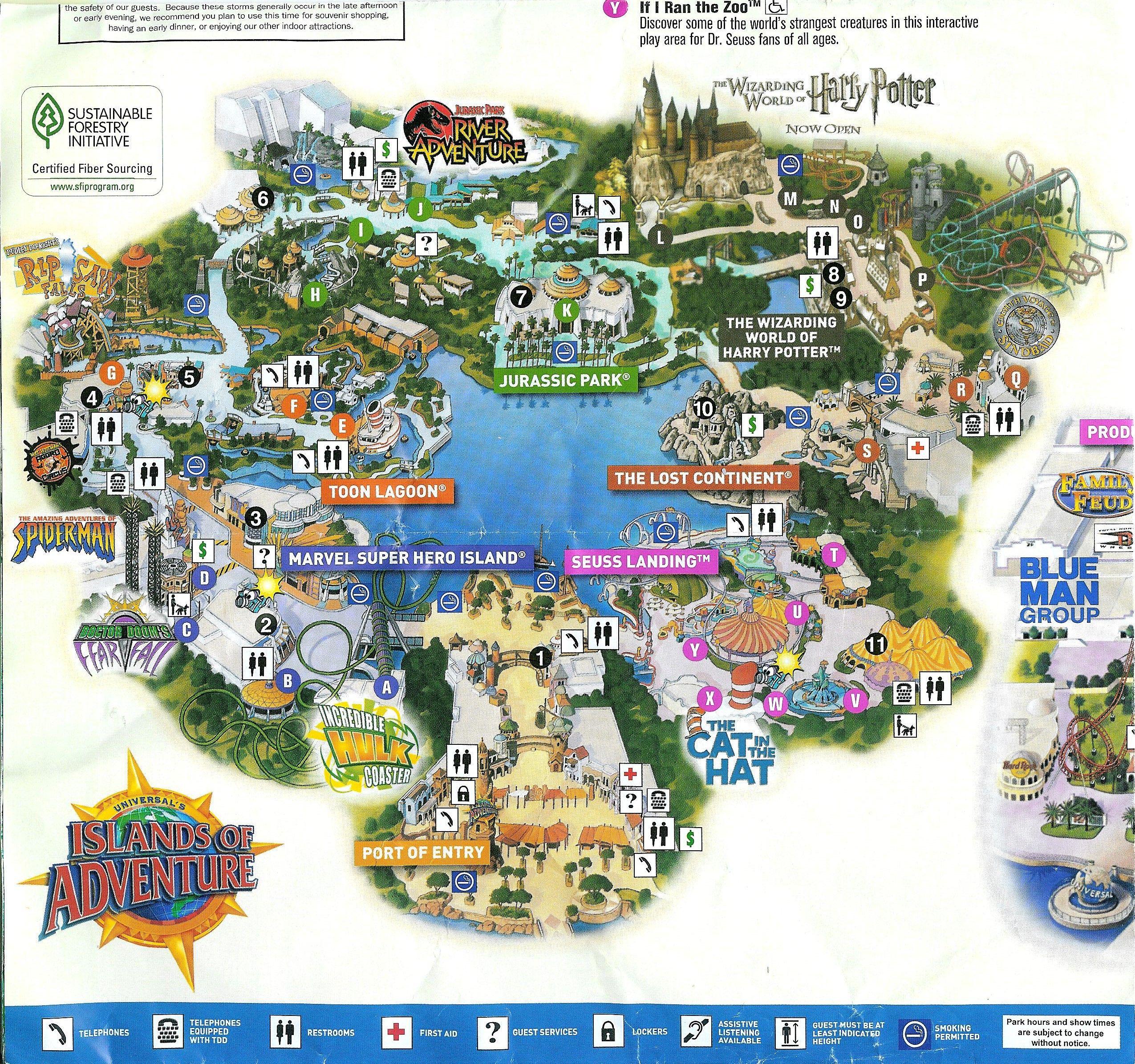 2010 2 Park Universal Orlando Map Orlando Map Universal