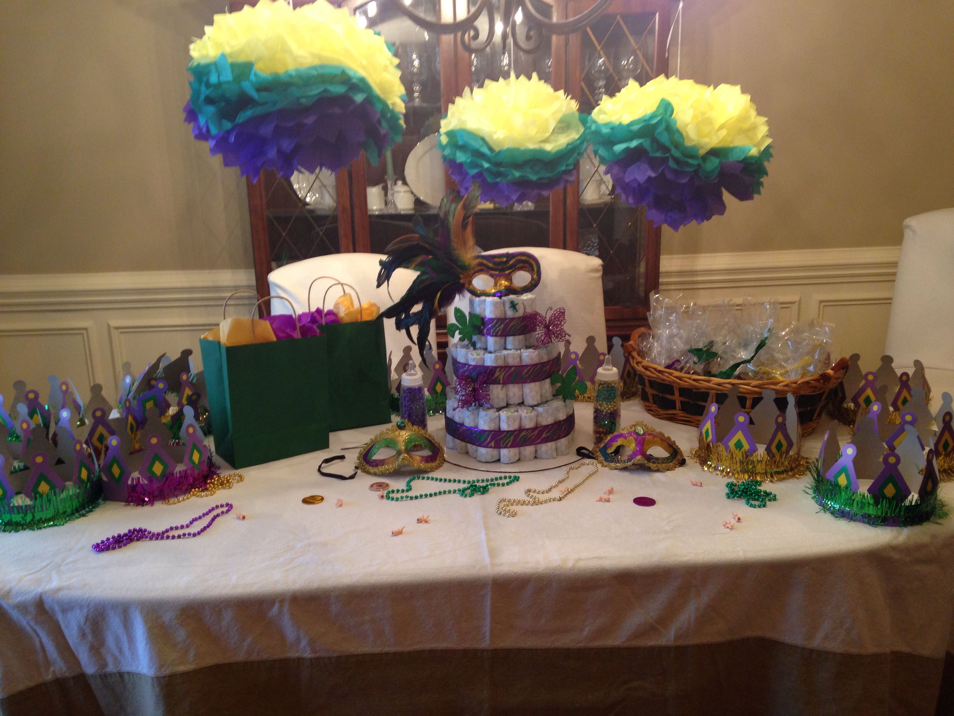mardi gras themed baby shower baby shower pinterest