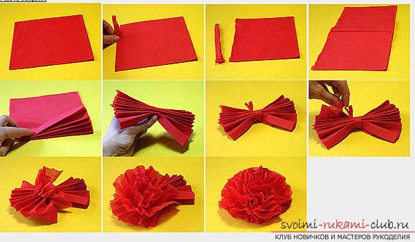 Как делать из салфеток цветы пошагово