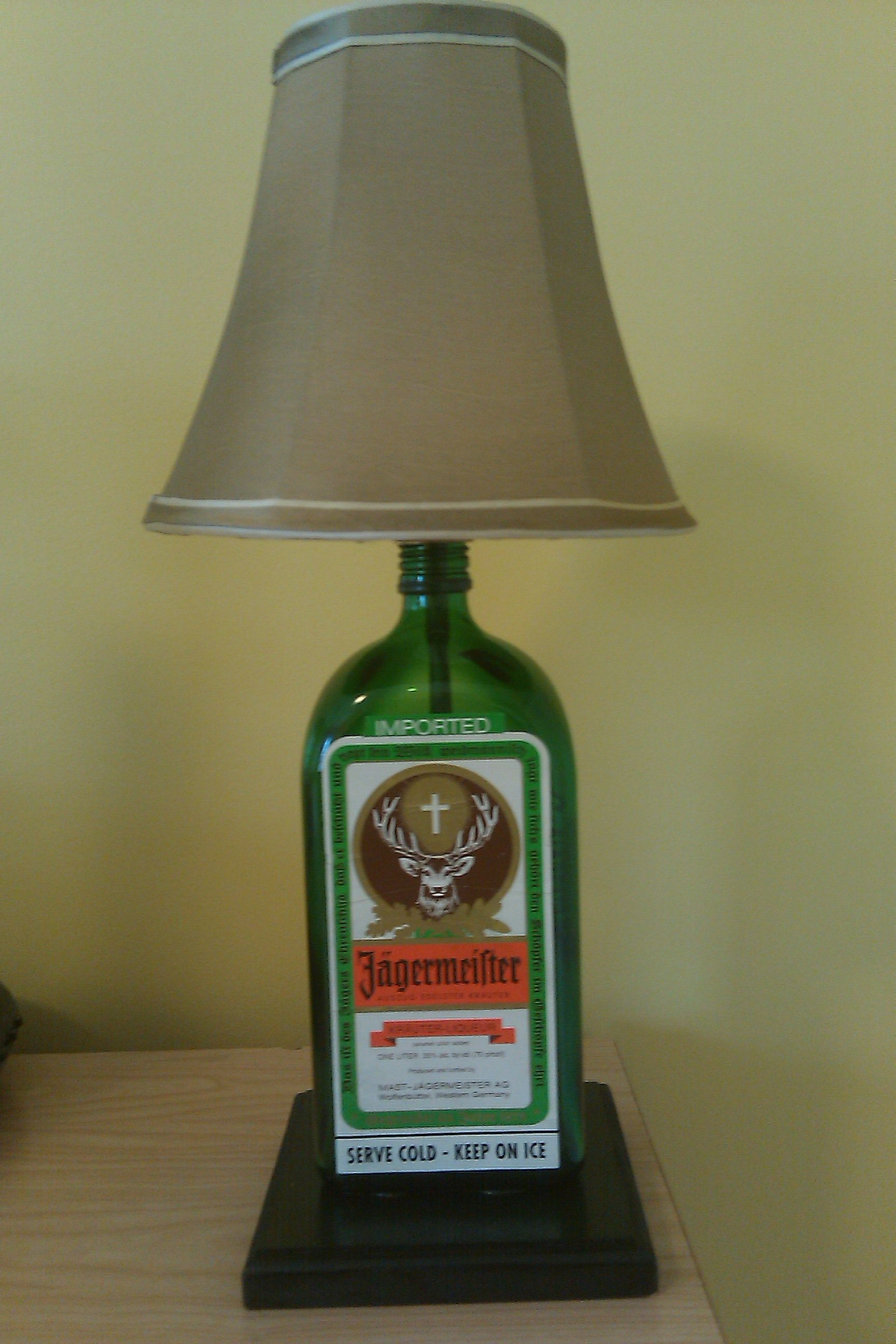 Firewater lamps liquor bottle lamp d i y pinterest for How to make a lamp out of a glass bottle