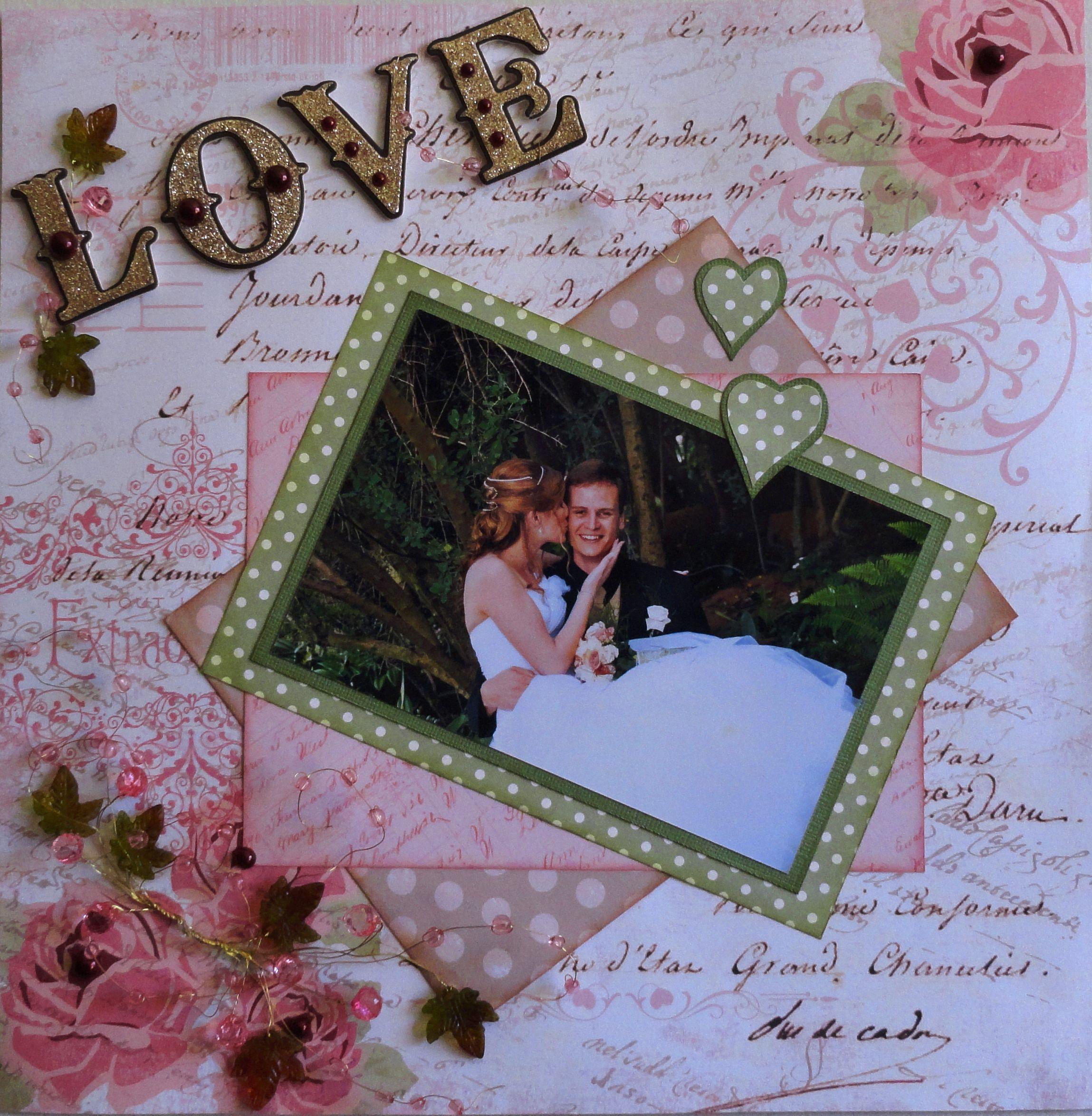 shawnmiller wedding scrapbook layouts