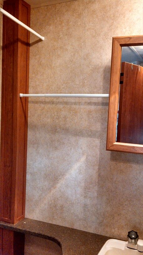 we used it for towels travel trailer storage ideas