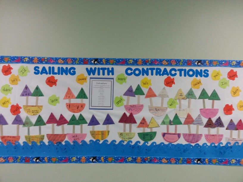 Contractions bulletin board | Creative Learning | Pinterest