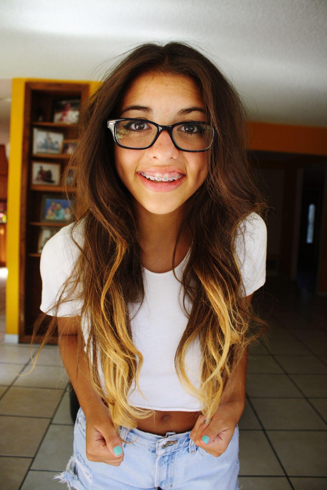 Teen babe Tatiana Kush looks so cute and innocent in glasses № 39384 загрузить