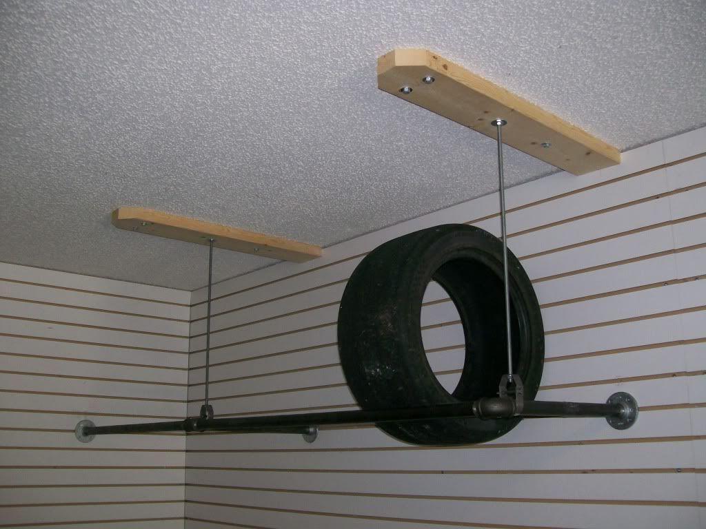 Vertical storage on wheels for garage