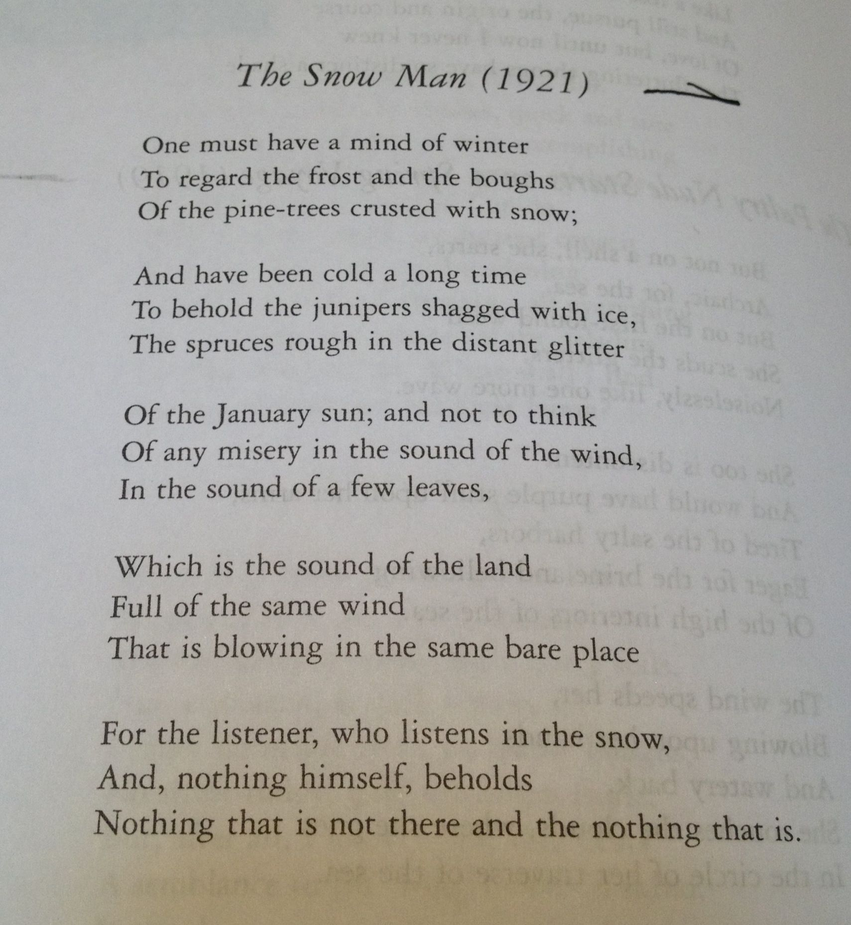 "analysis wallace stevens modern poetry The first feature of modern poetry is a focus on newness as expressed in ezra   in their own ways, robert frost, wallace stevens, and william carlos  ""poetry  provides the one permissible way of saying one thing and meaning another."
