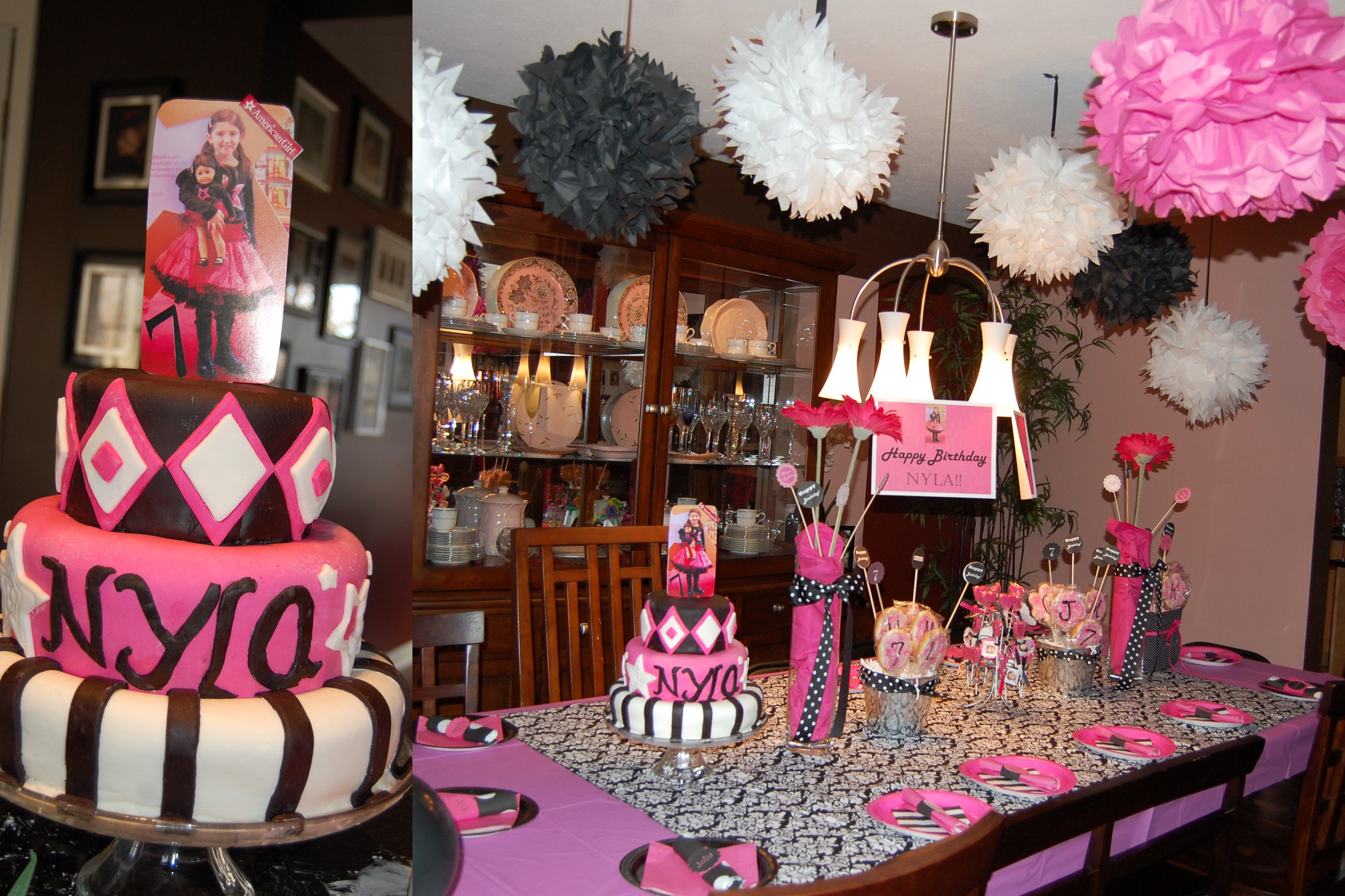 American girl birthday party girls birthday 2014 pinterest for American party decoration