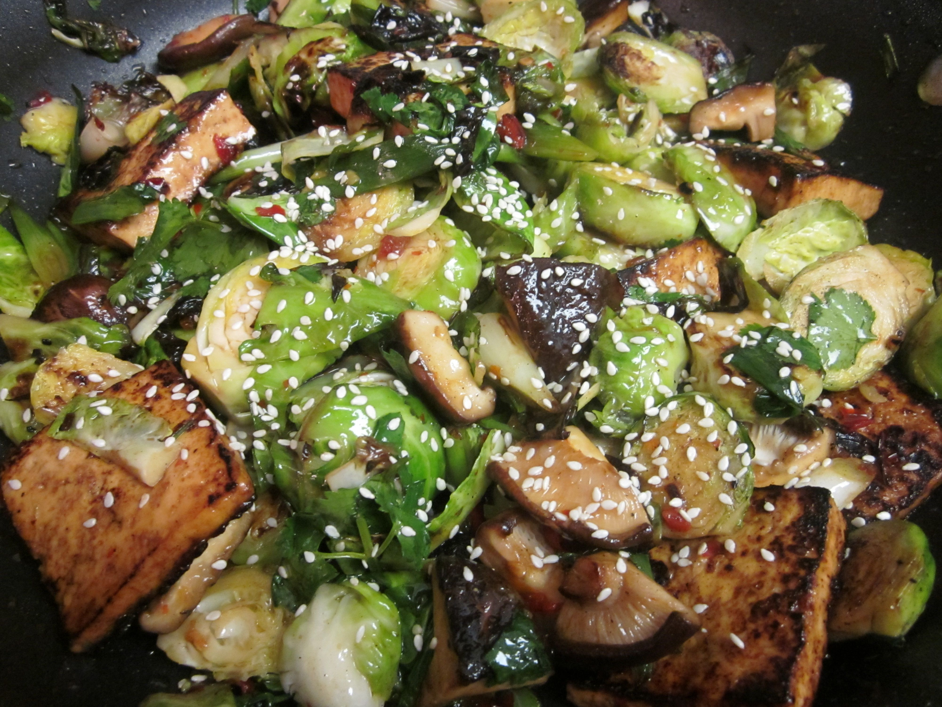 Brussels Sprouts and Tofu | Yum! | Pinterest