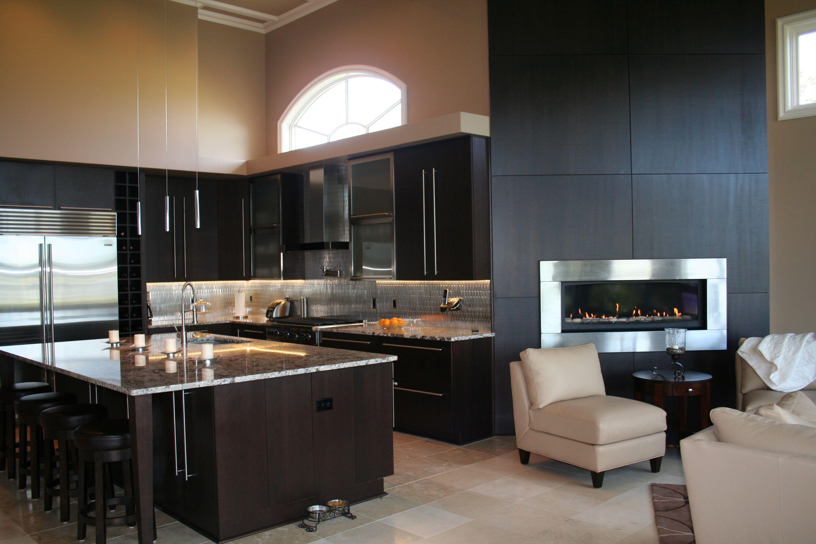 Kitchen designs islands contemporary espresso kitchen cabinets