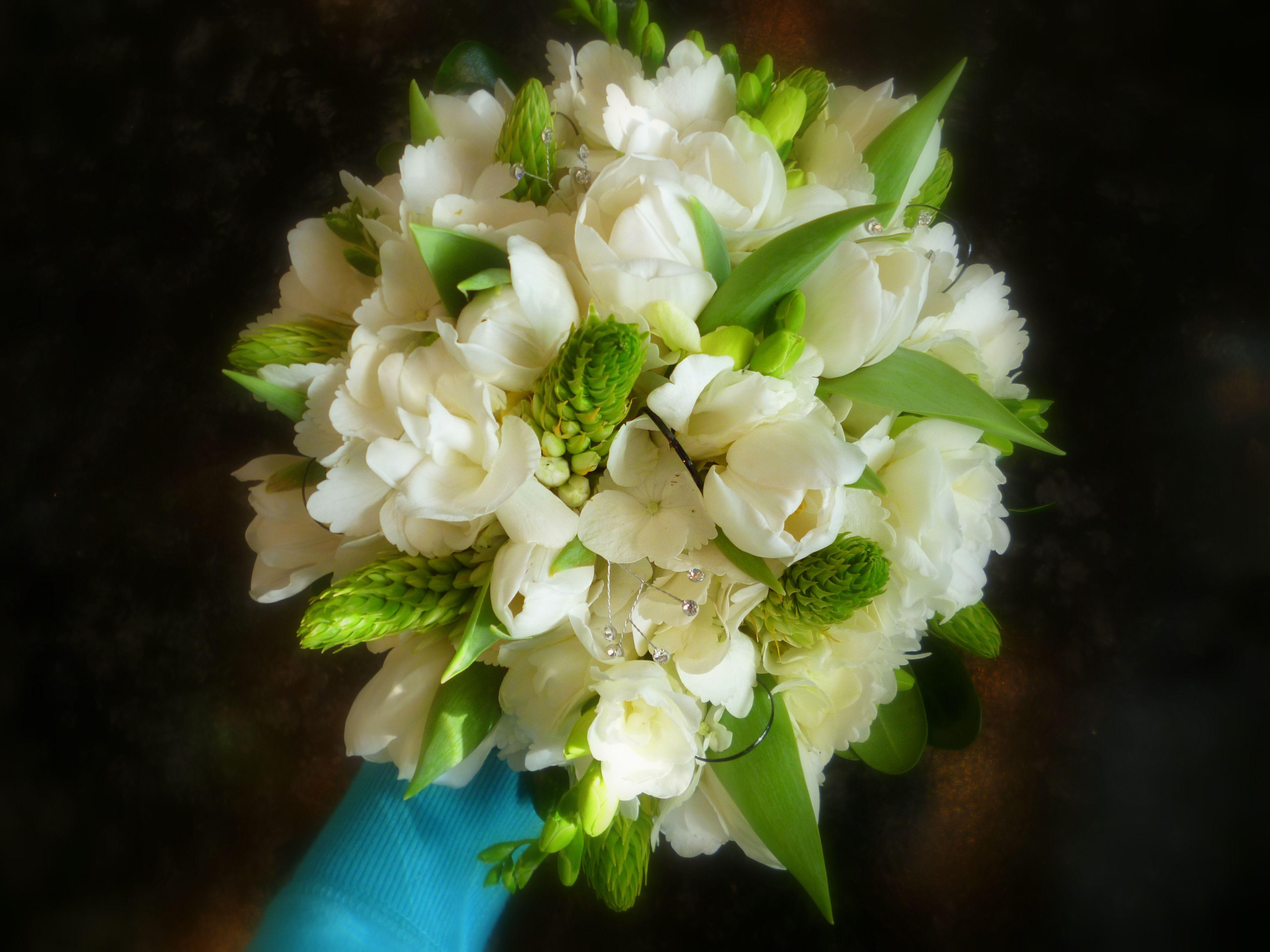 White Tulips Wedding Bouquet | wedding | Pinterest