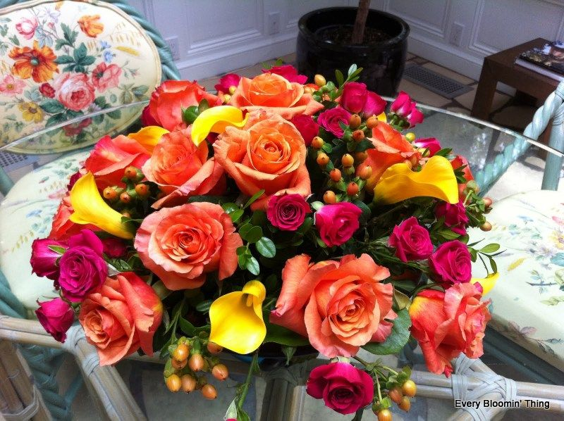 Fall flowers in a low bowl holidays and events pinterest