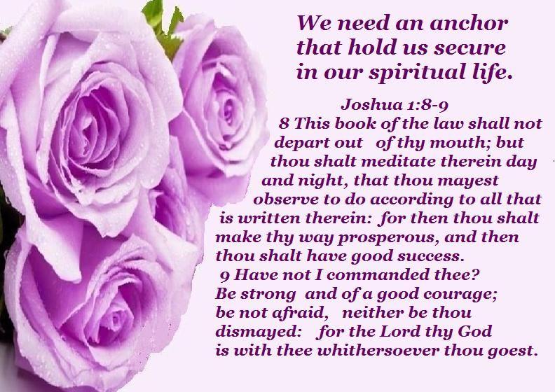 JOSHUA 1:8-9 We Need An Anchor | INSPIRATION ~ BIBLE ...