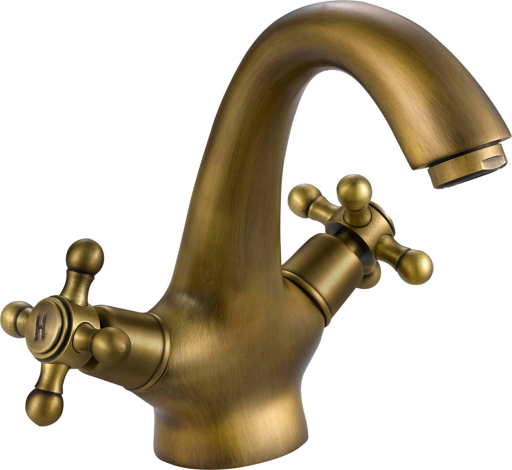 Antique brass bathroom fixtures