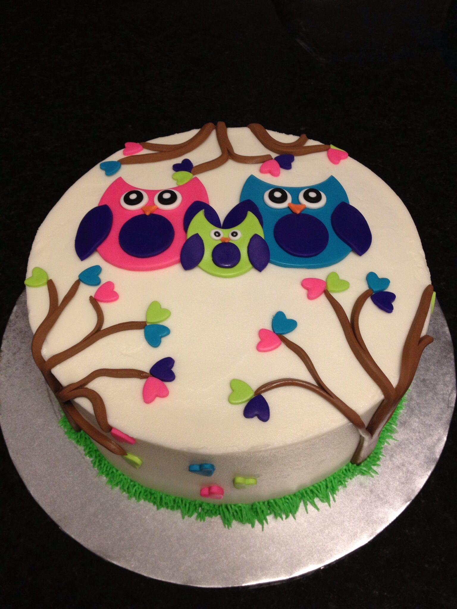 owl baby shower cake sweet ideas pinterest