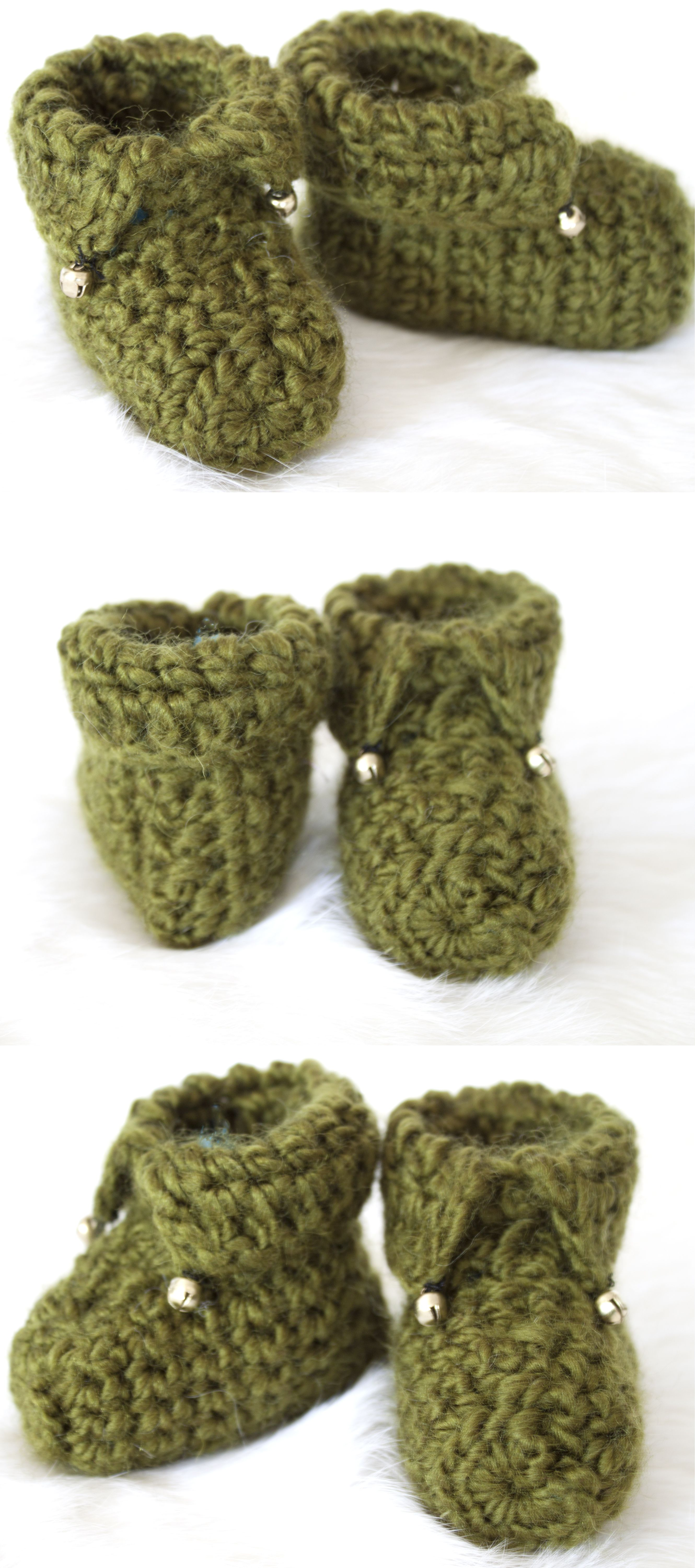 Crocheted elf booties pattern is from ravarly com crochet booties
