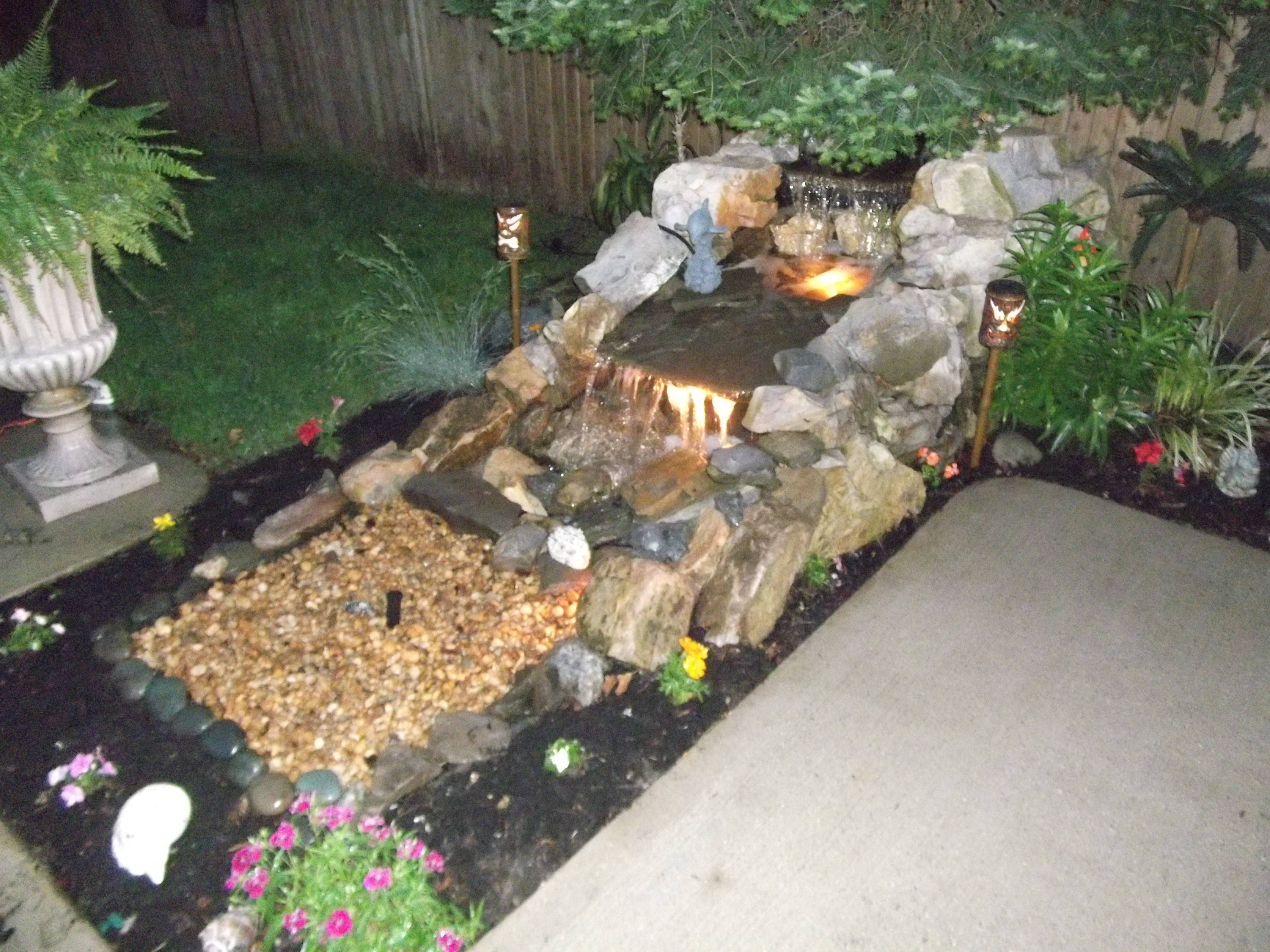 Our waterfall backyard ideas pinterest for Pinterest small patio ideas