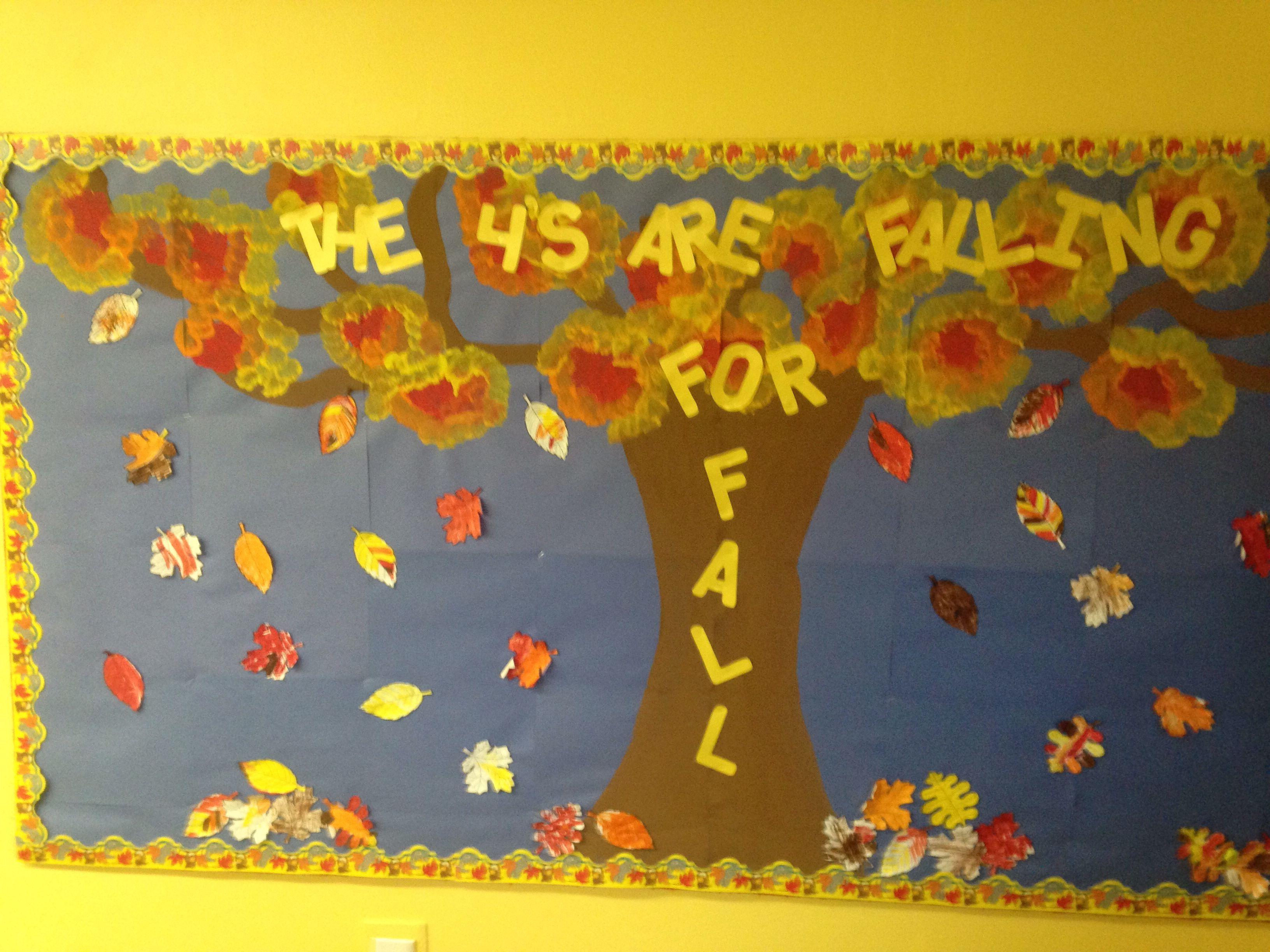 Fall bulletin board idea kids teaching ideas pinterest for Fall bulletin board ideas