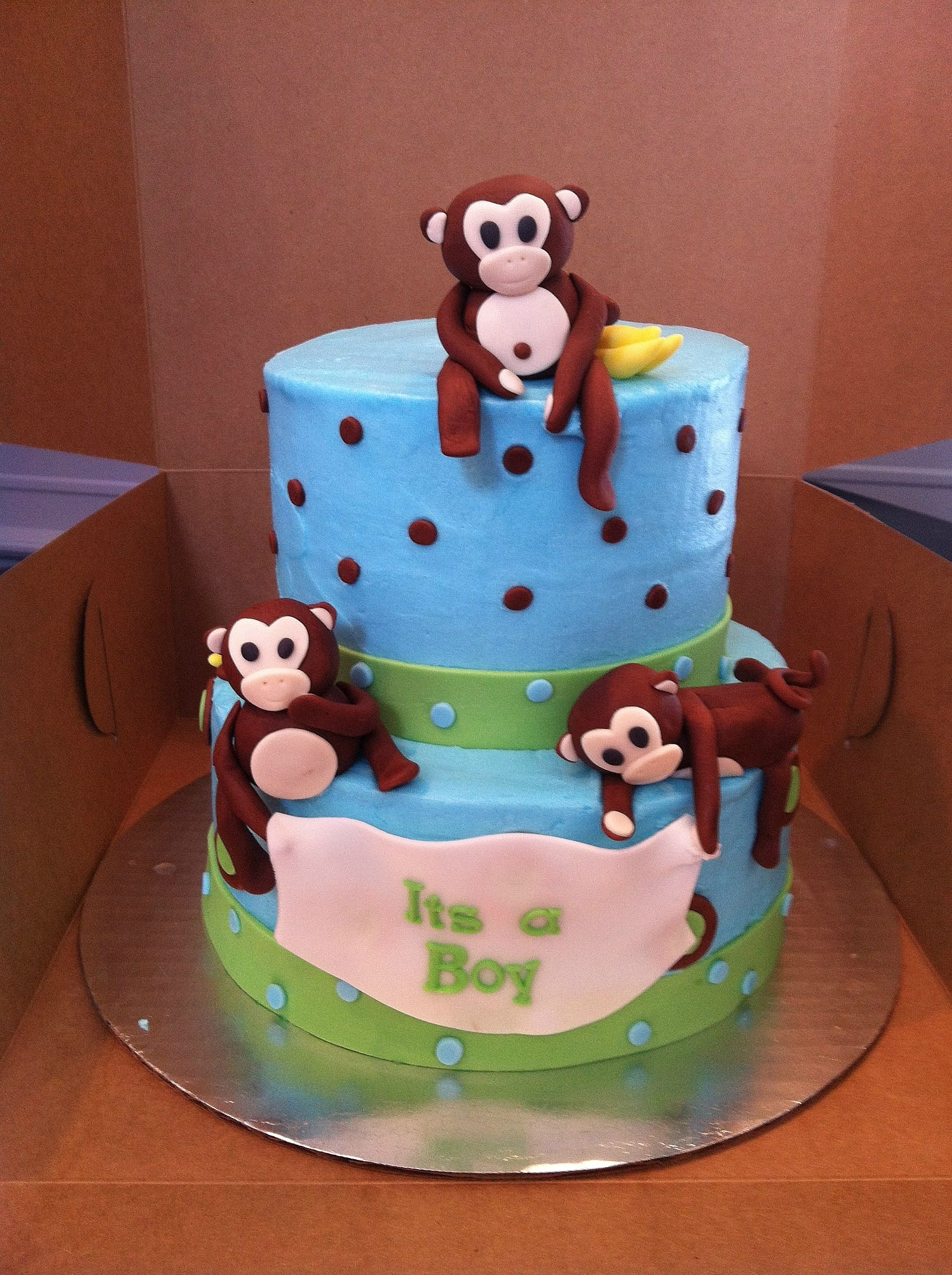 Monkey baby shower cakes cupcakes pinterest - Baby shower monkey pictures ...