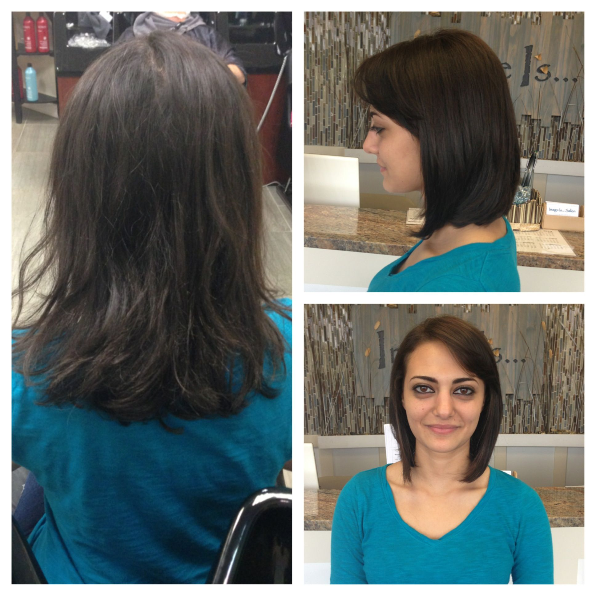 Before and after! Inverted long bob! | Niki Nachodsky ...