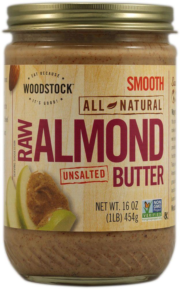 Woodstock Farms Raw Almond Butter | Non-GMO Verified ... Almond Butter