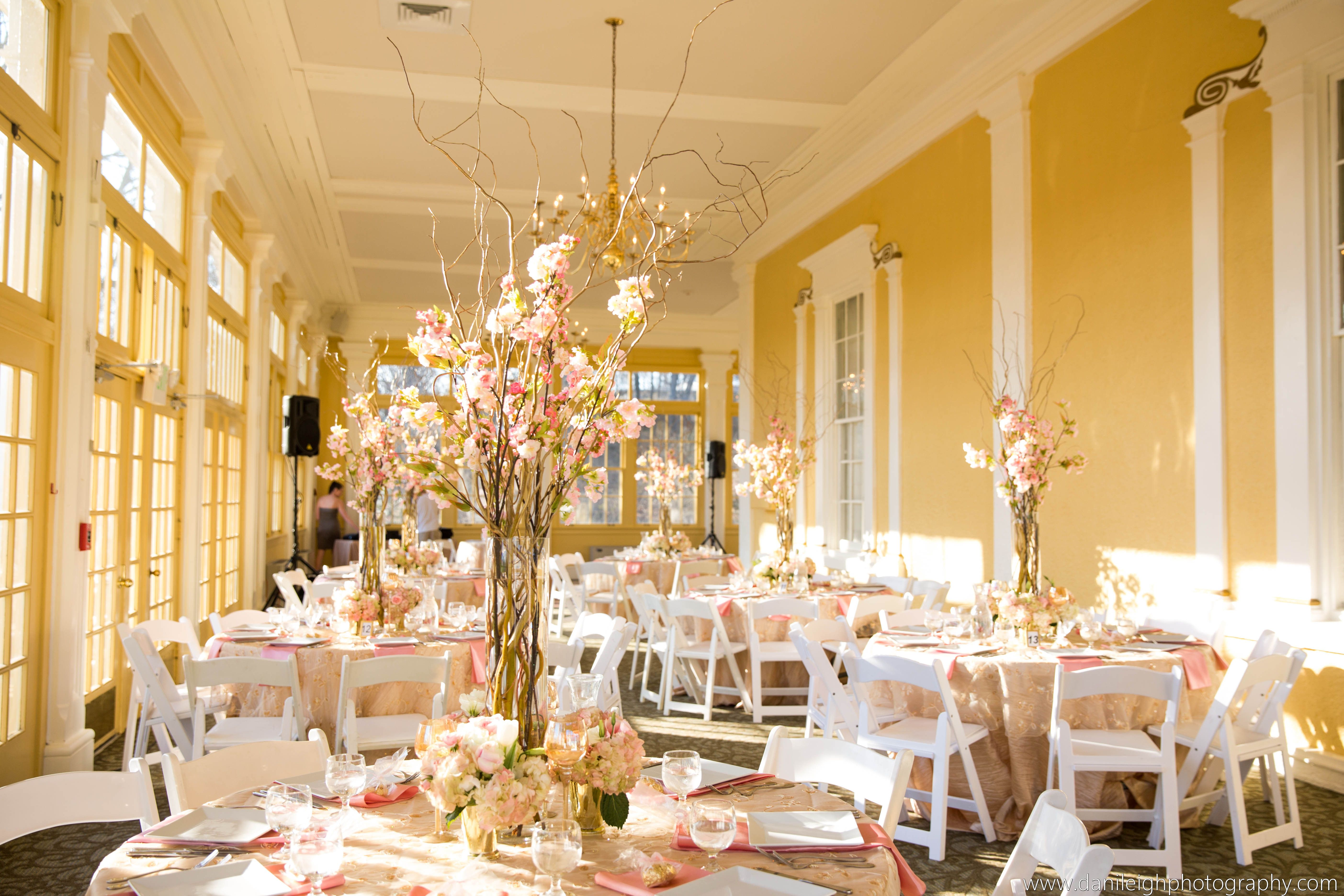 Beautiful Wedding Reception Decor In The Mansion House At Maryland Zoo
