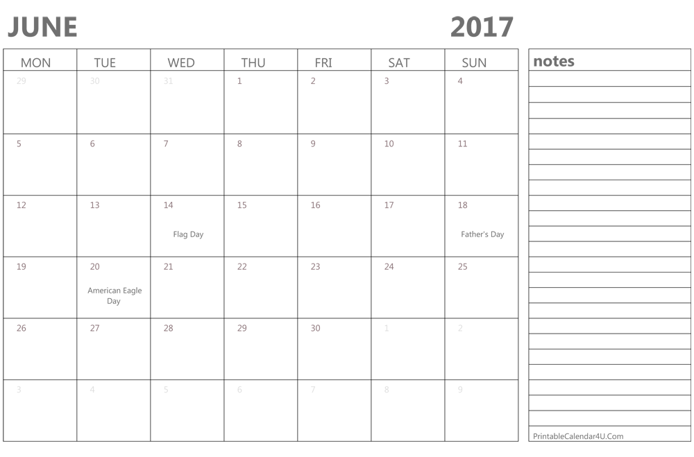 Blank Calendar Template With Notes – blank calendars 2017