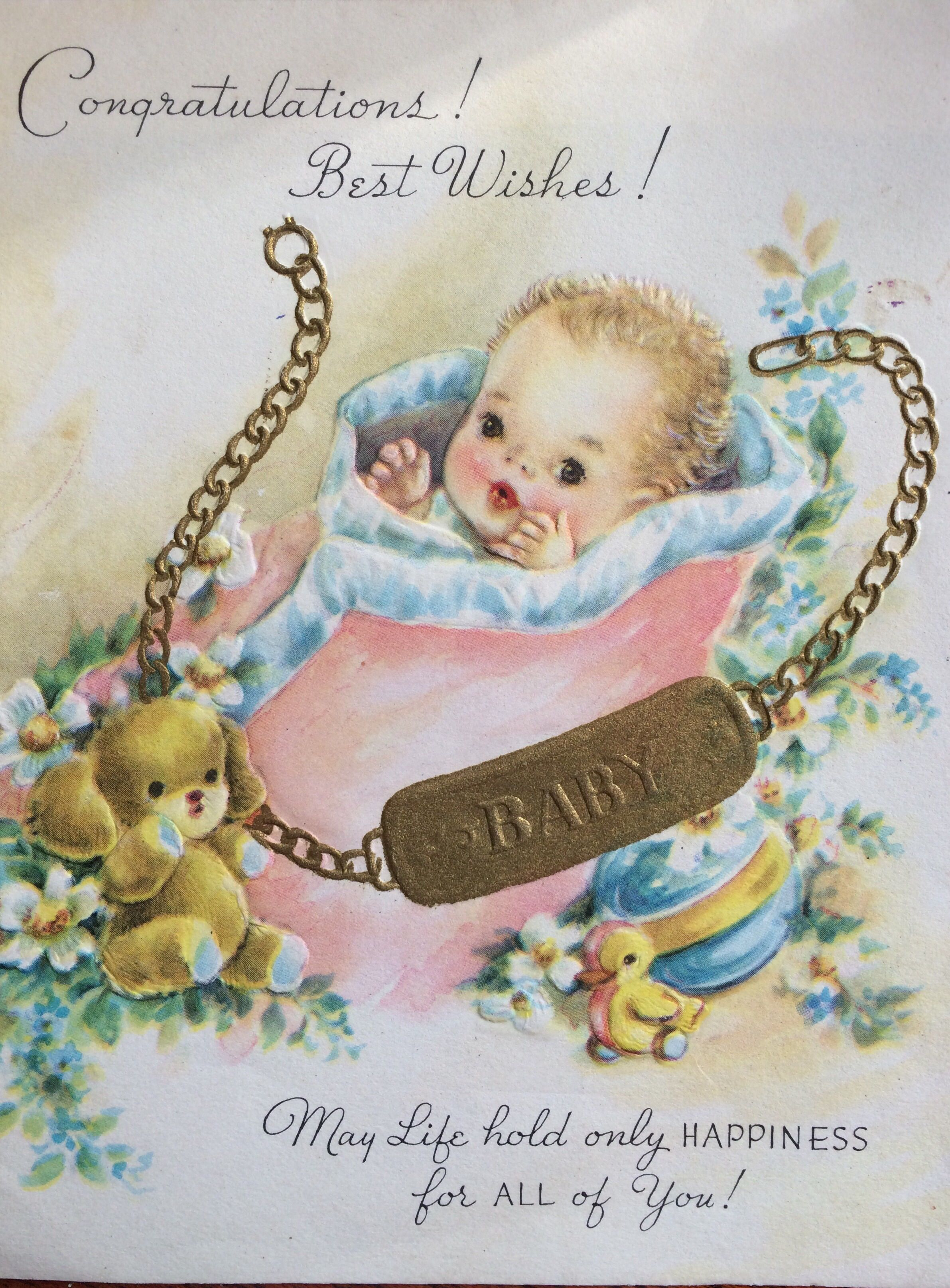 Welcome baby | Vintage Cards | Pinterest