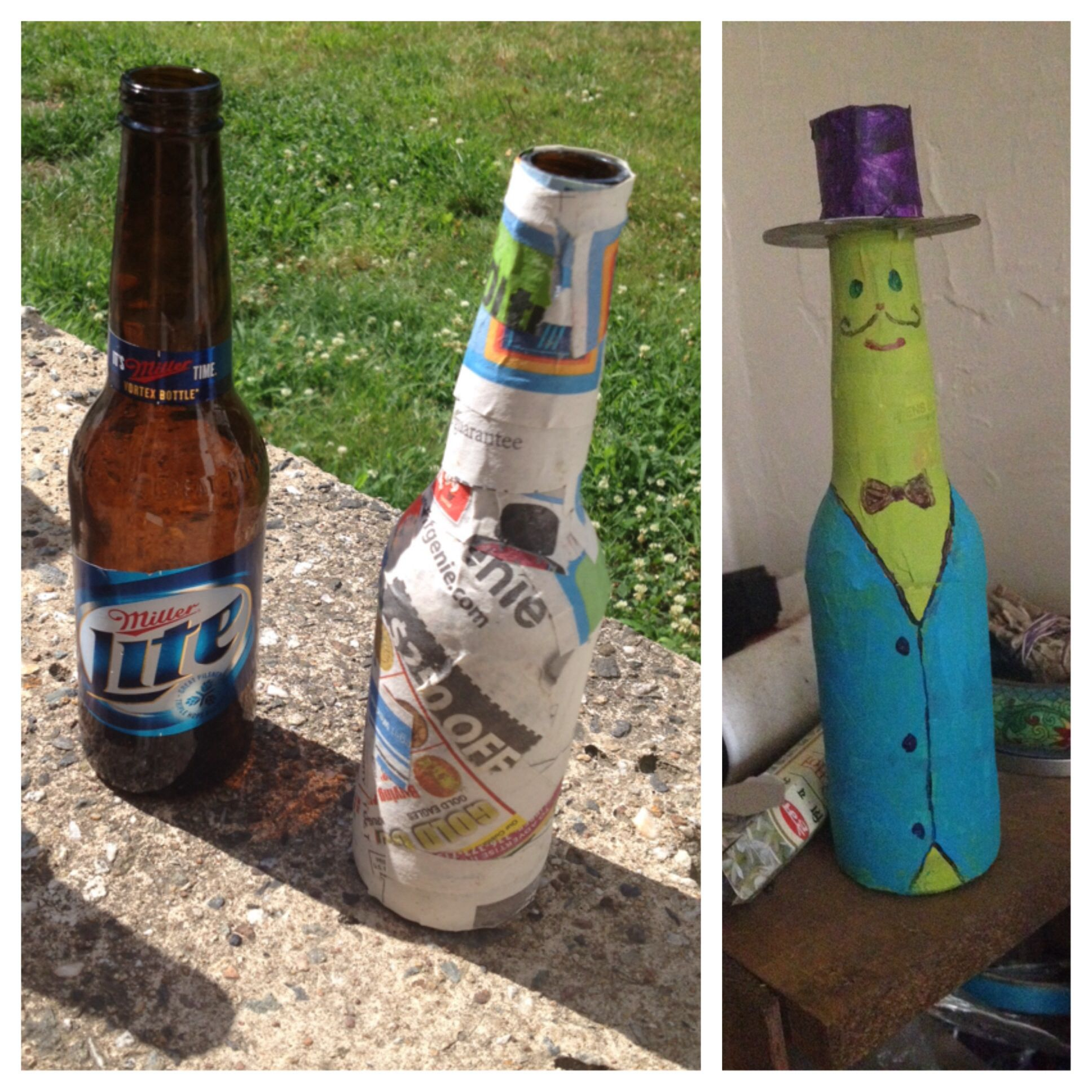 paper m ch beer bottle craft craft ideas pinterest