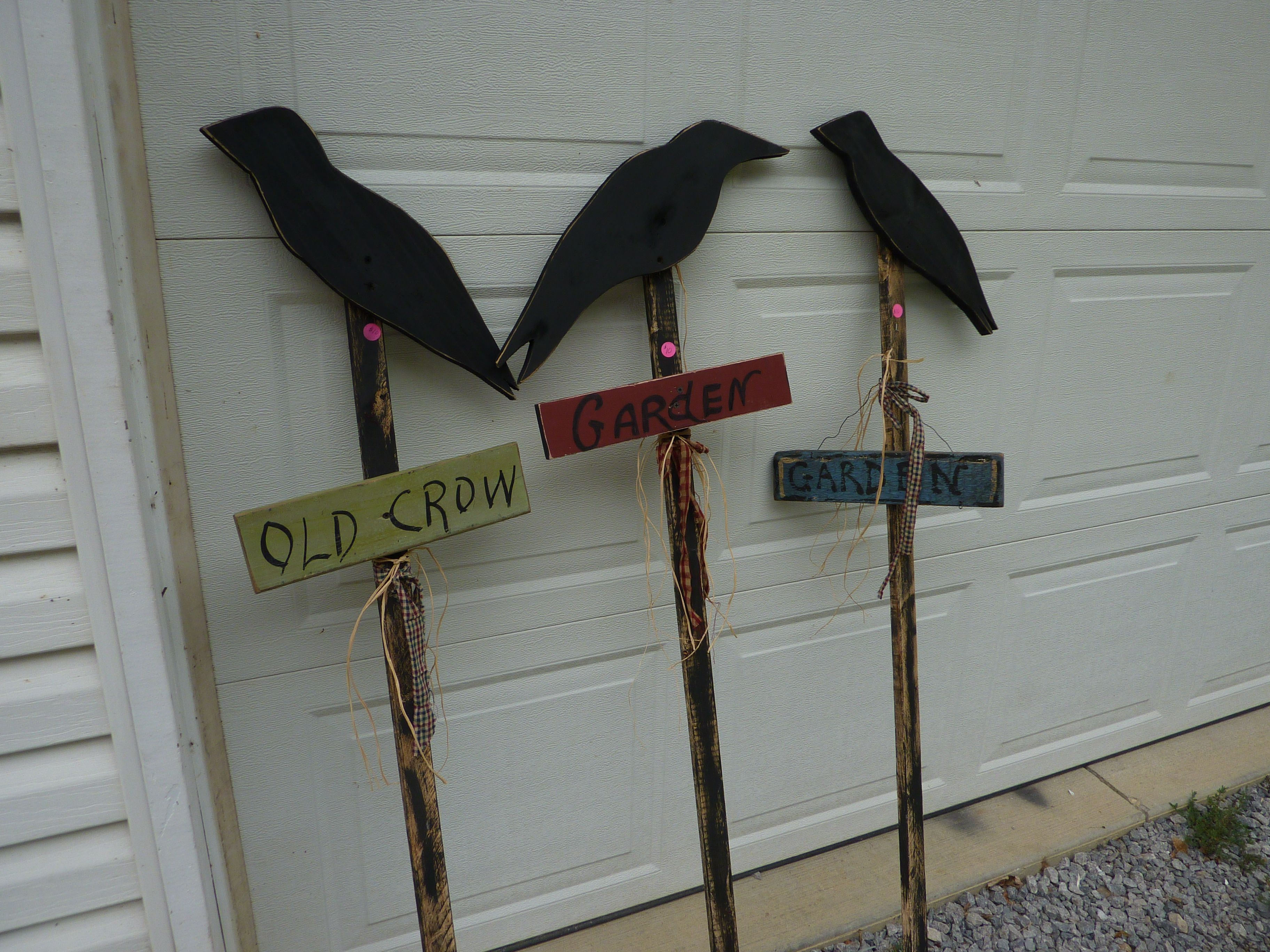 wooden garden crows | Primitive Things I have made and sold | Pintere ...