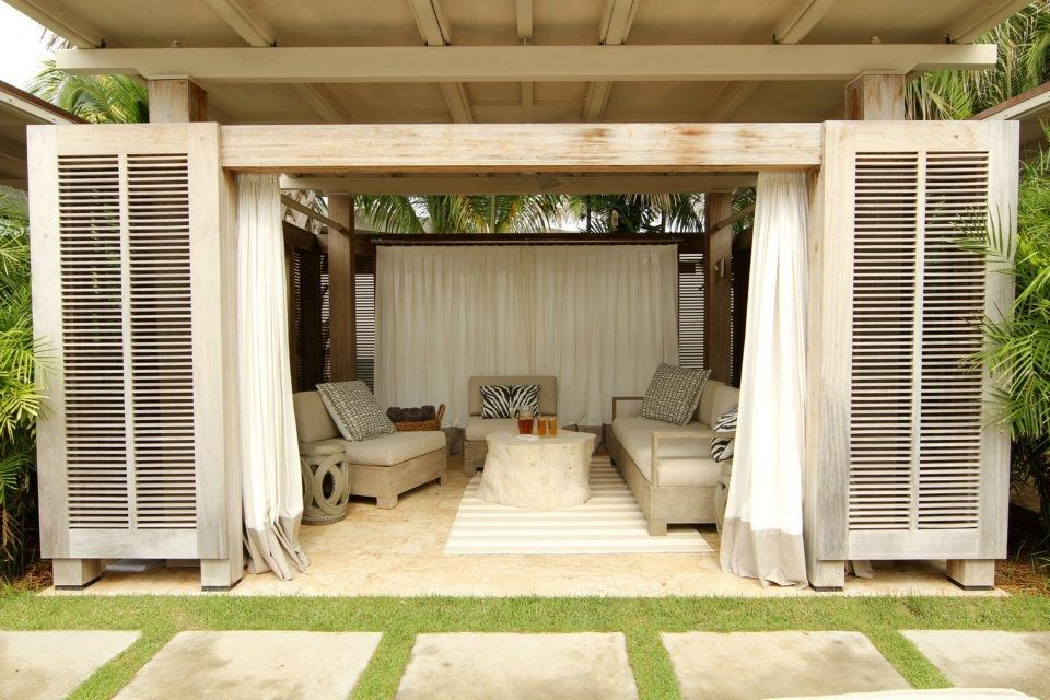 outdoor cabana for the home pinterest