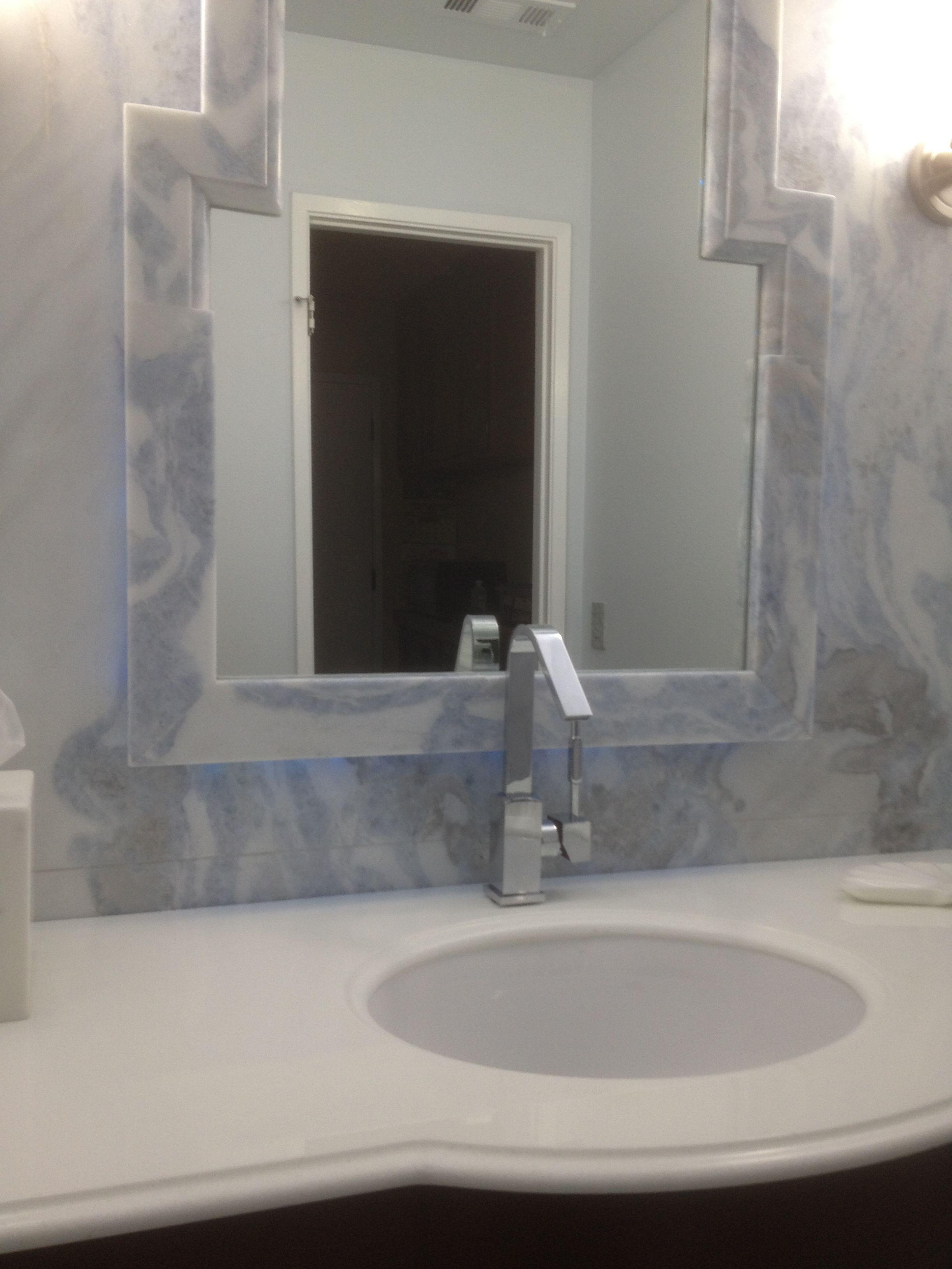 marble mirror frame bathroom remodel ideas pinterest