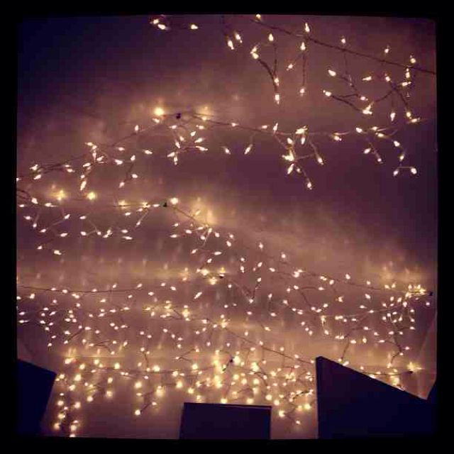 set up icicle lights in my room decor pinterest
