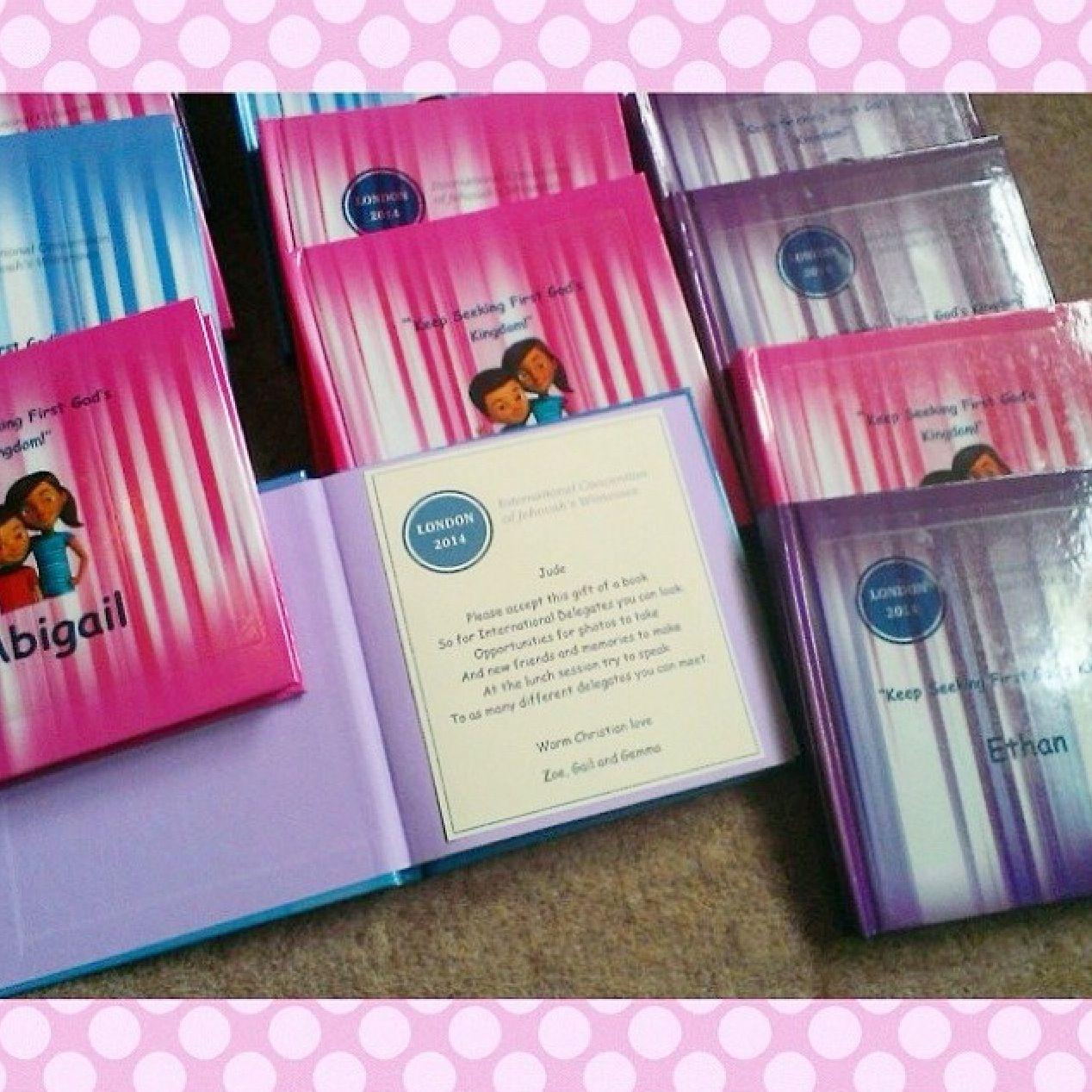 Personalized notebooks jw gift ideas pinterest