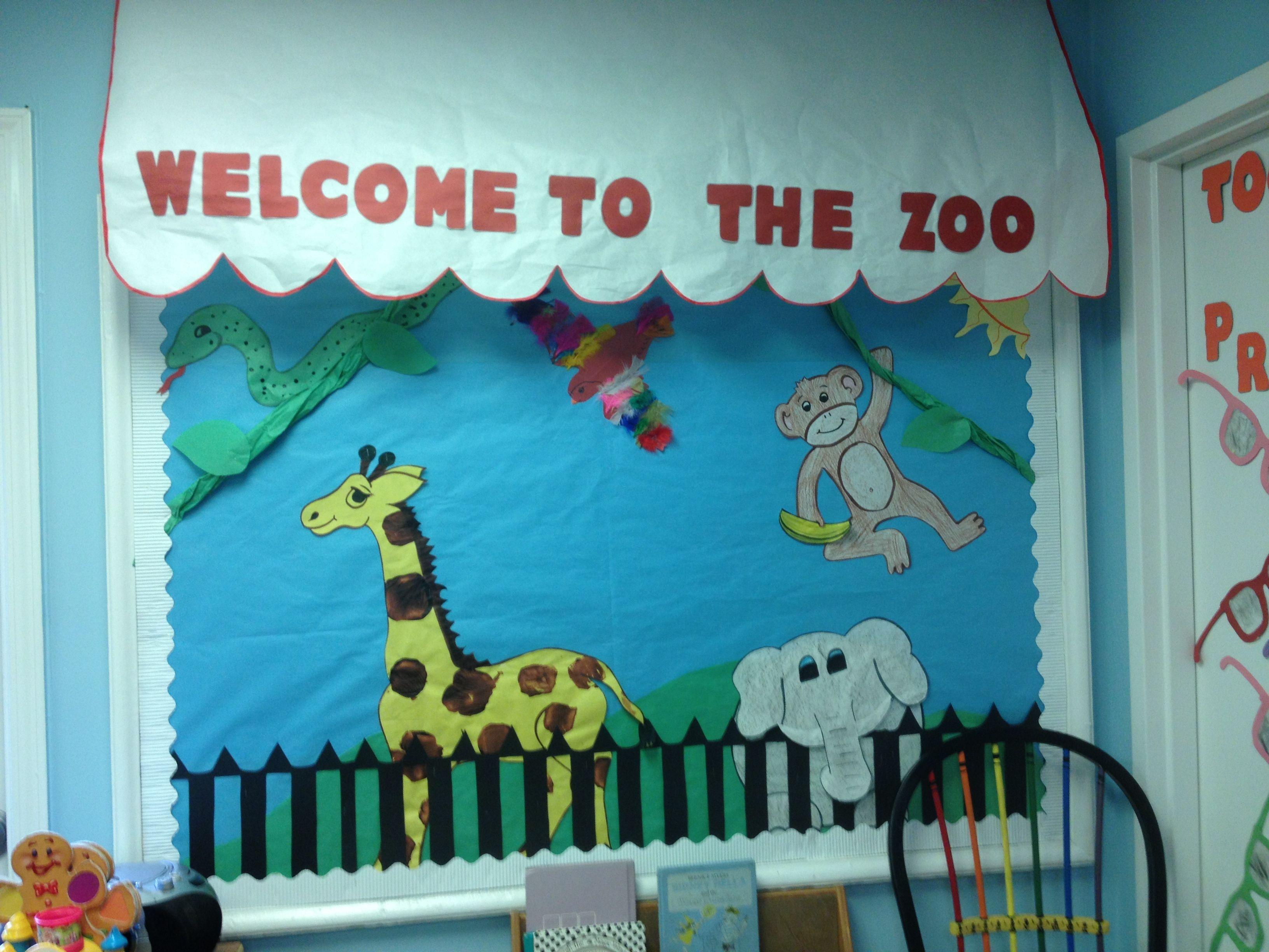 Zoo bulletin board bulletin board ideas pinterest for Cork board decorating ideas pinterest