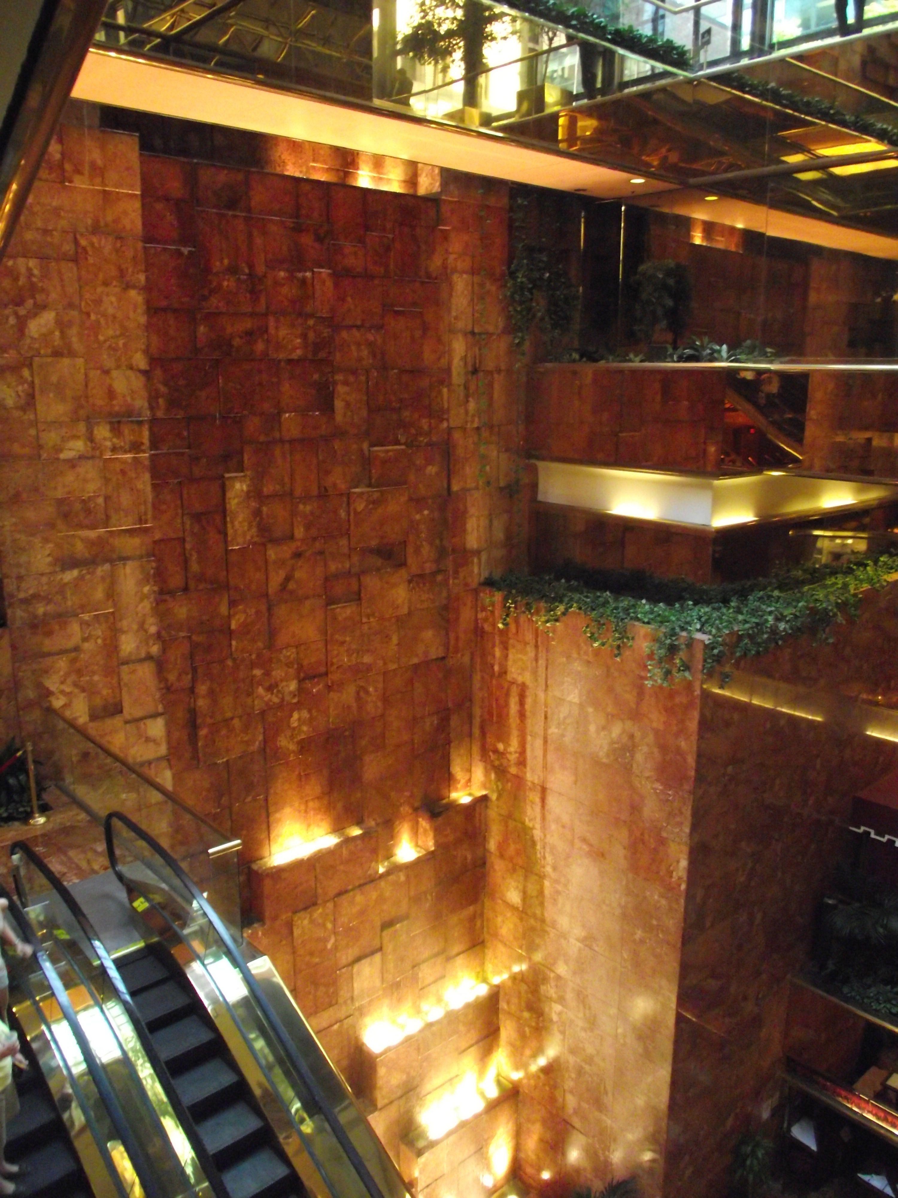 Inside The Trump Tower Nyc New York City Pinterest