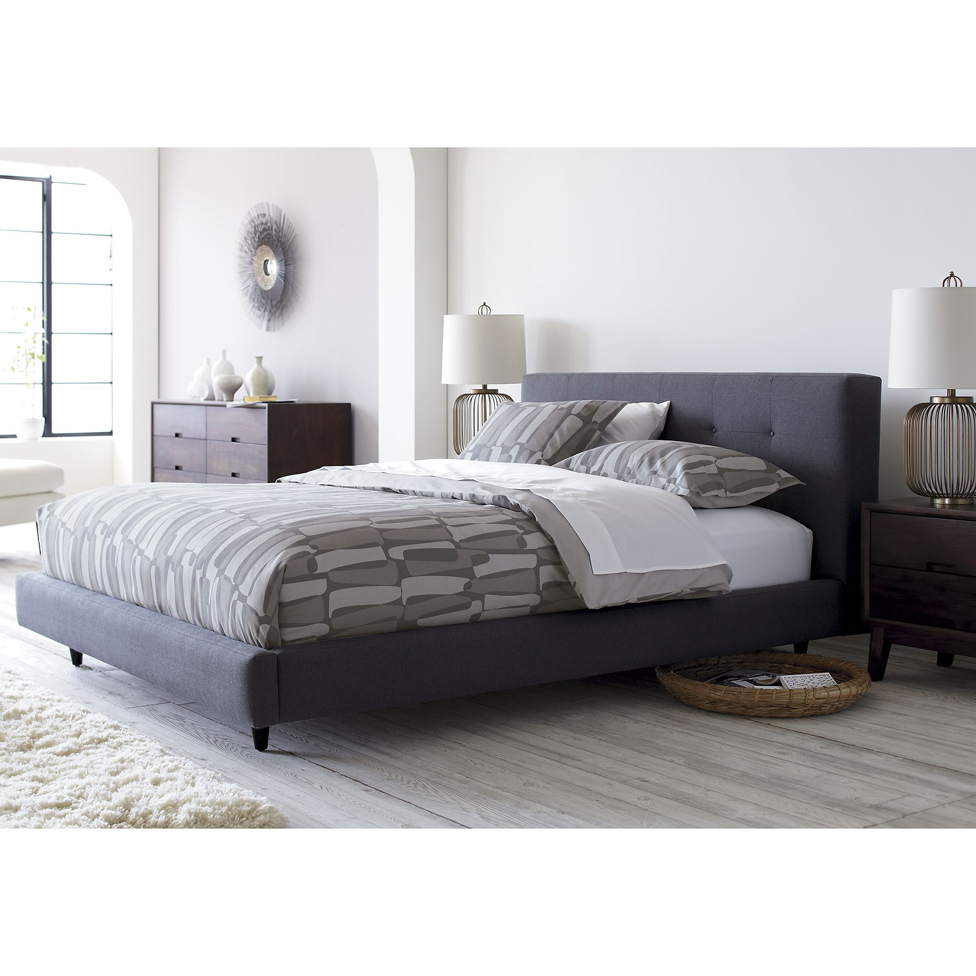 Tate bed from crate barrel home pinterest Master bedroom with two full beds