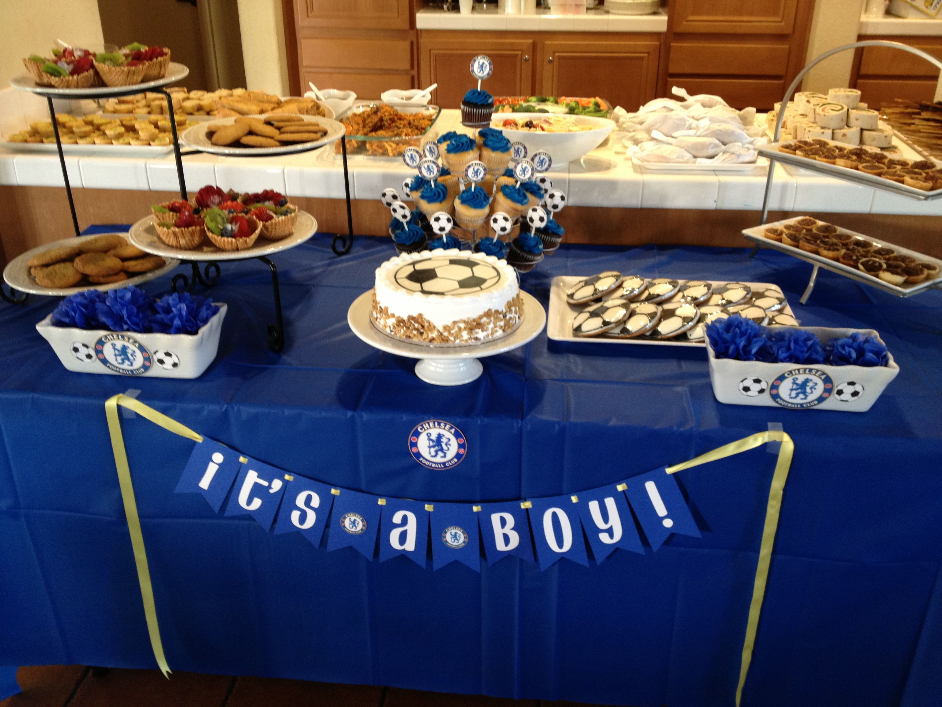 chelsea football themed baby shower baby luft pinterest