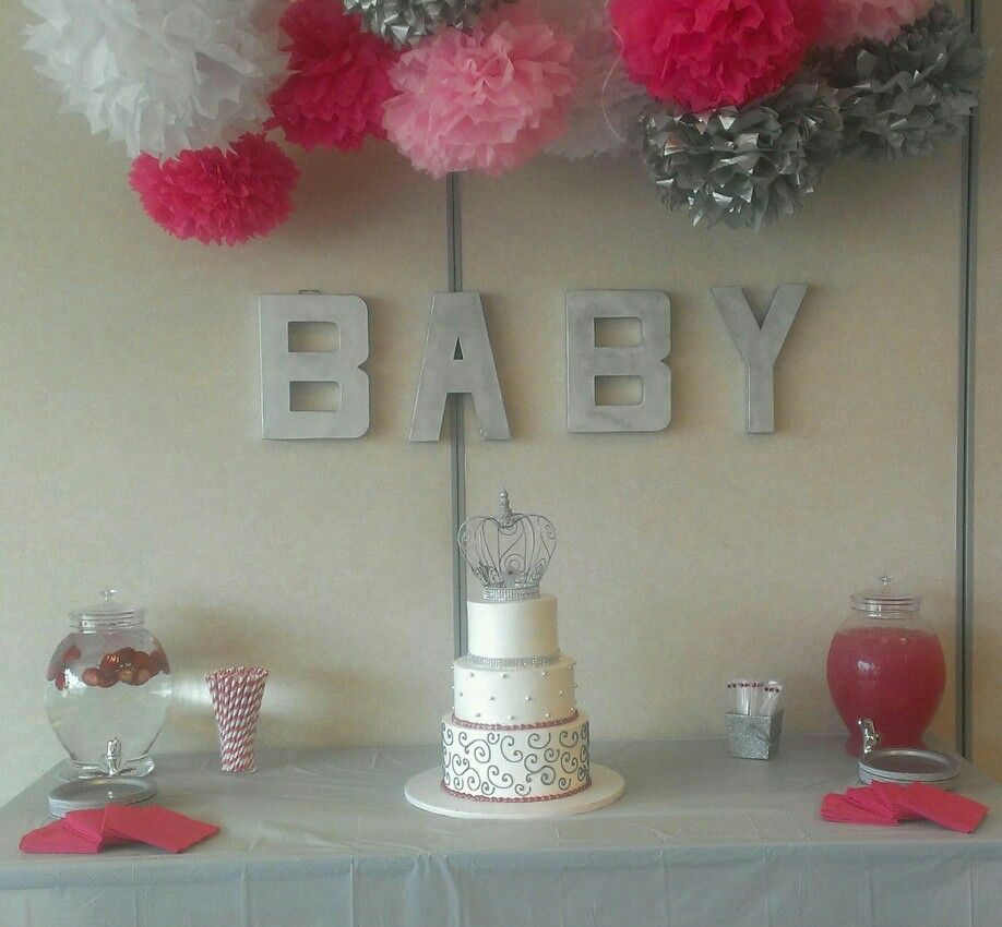 pink and silver baby shower morgan pinterest