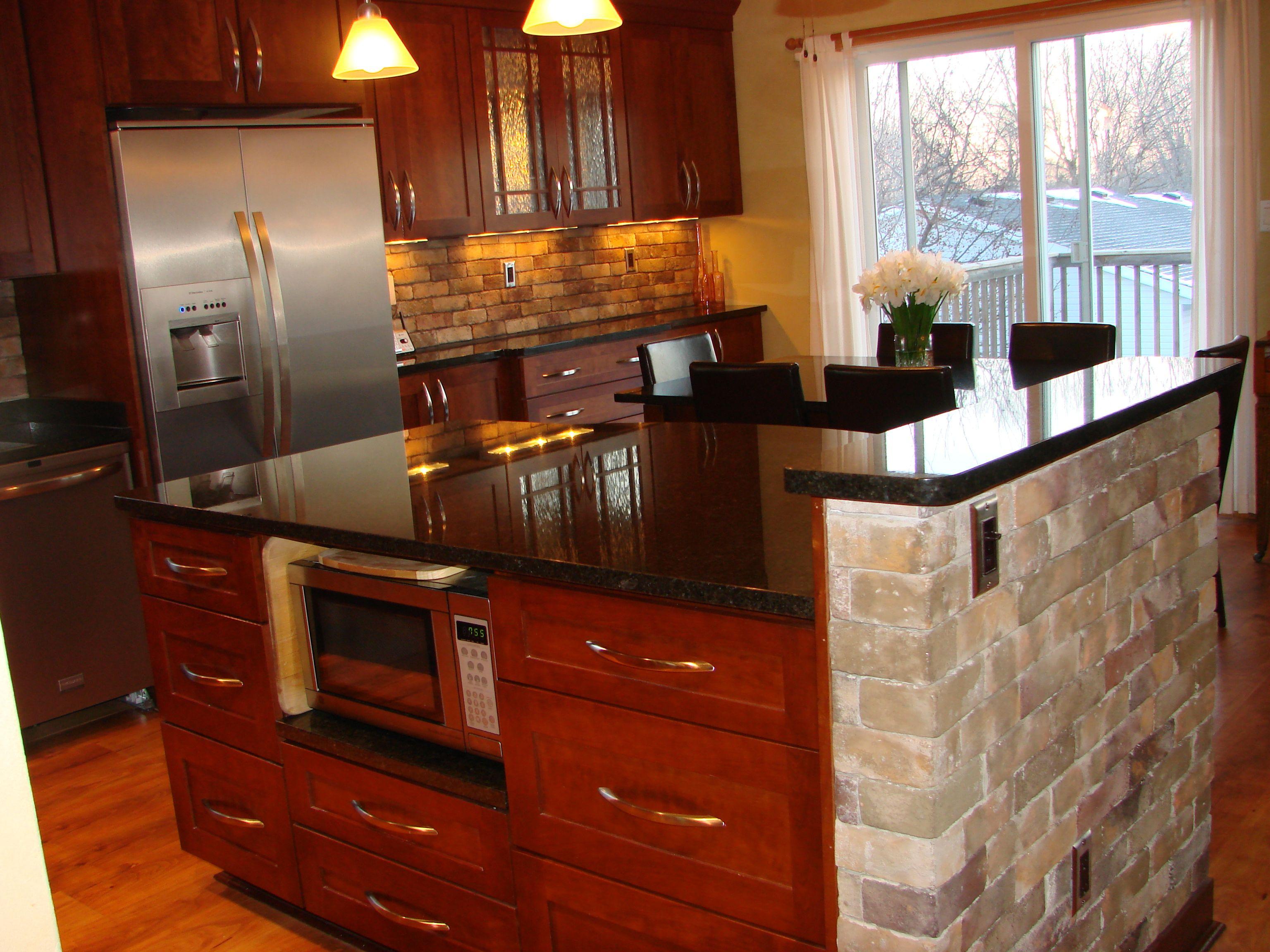 Black pearl granite kitchen countertops ideas for the for Black kitchen countertops