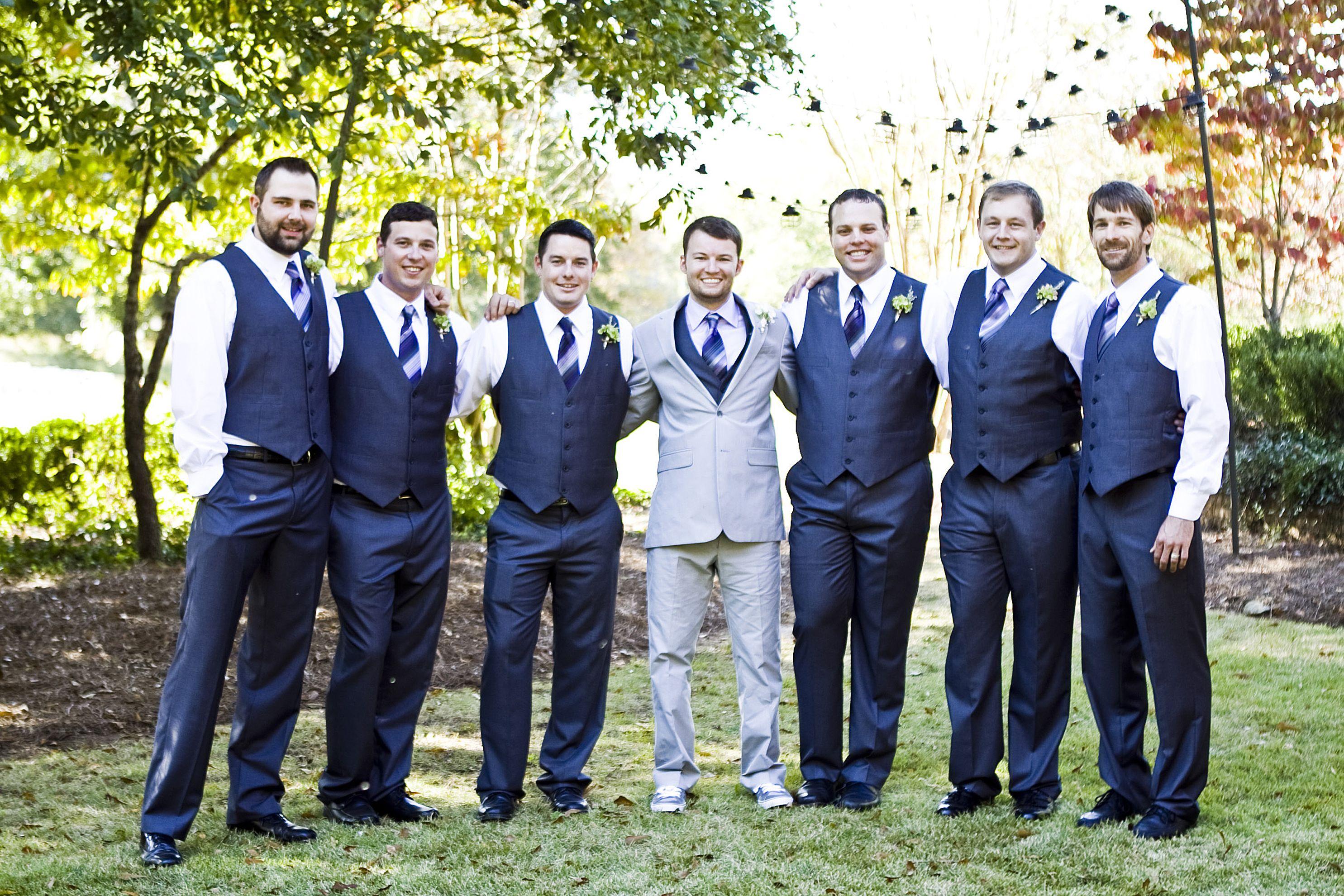 Wedding Suit Ideas For Groomsmen : Groomsmen- Gray Suits Wedding Ideas Pinterest
