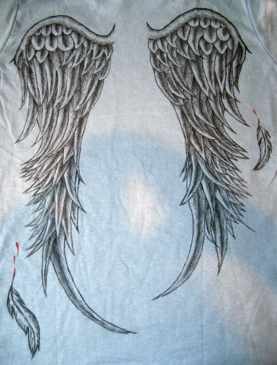 I like the falling feathers | TatToOs ~ Angel Wings ...