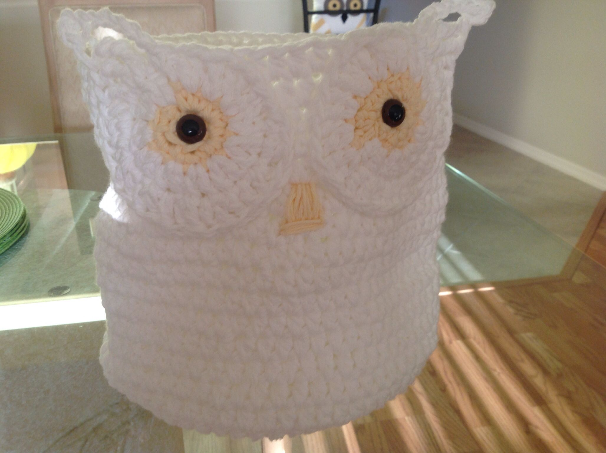 Crochet Owl Basket : Crochet. Owl basket Knitting Pinterest
