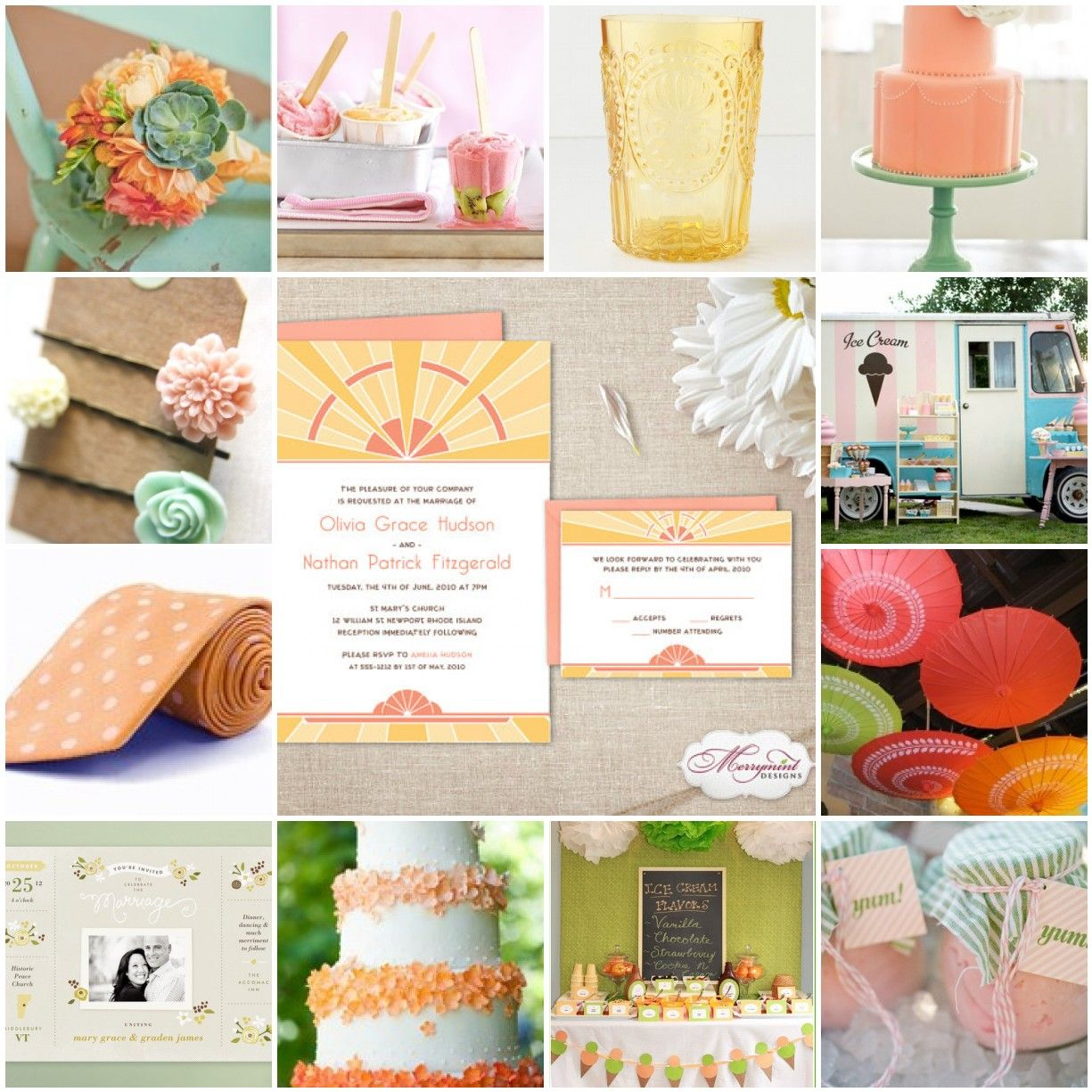 sherbert color pallette | Weddings ~ REALLY!? Only ONE Theme!?!!? | P ...
