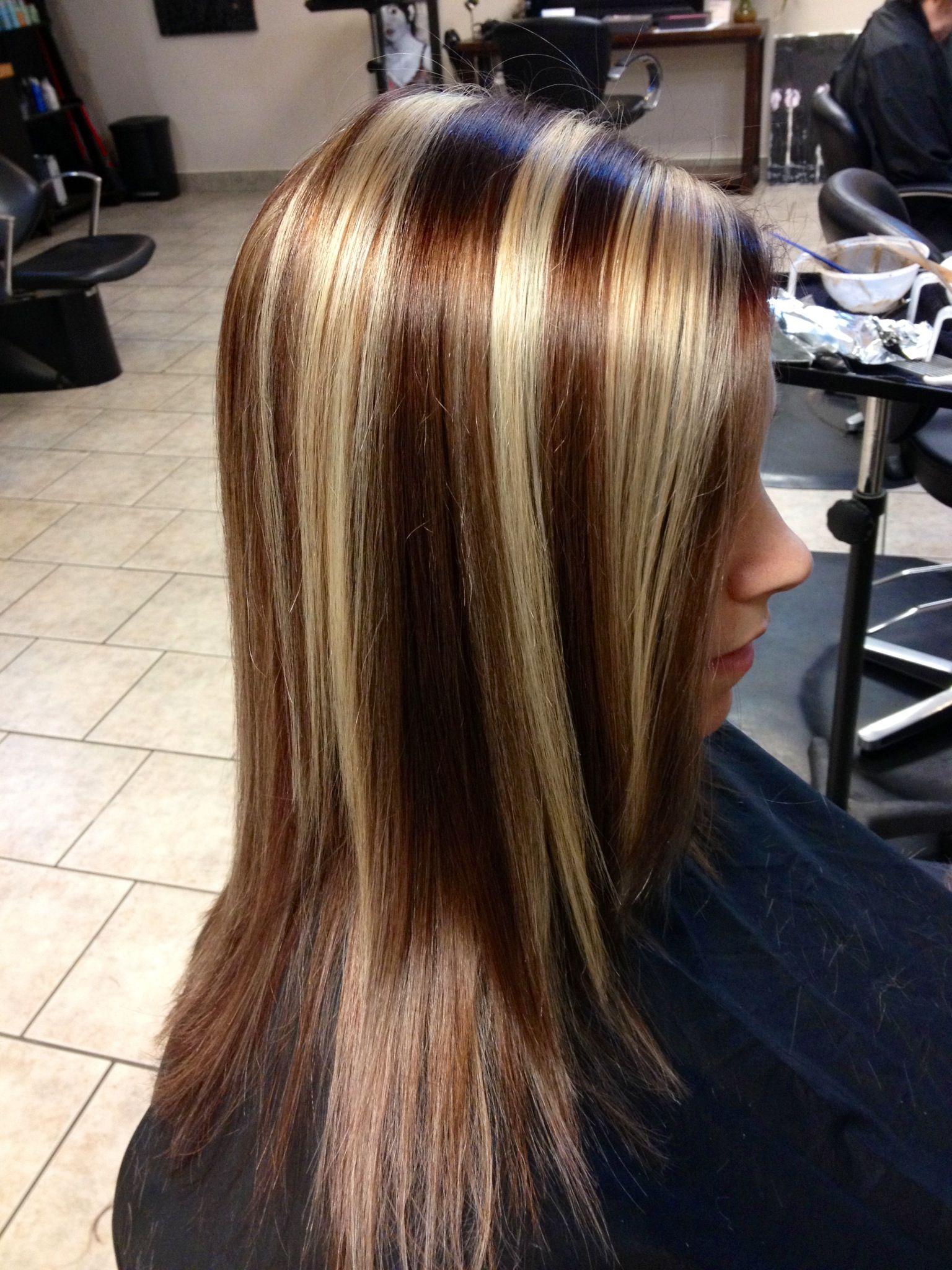 One of my clients ! Chunky foils | Hair Ideas
